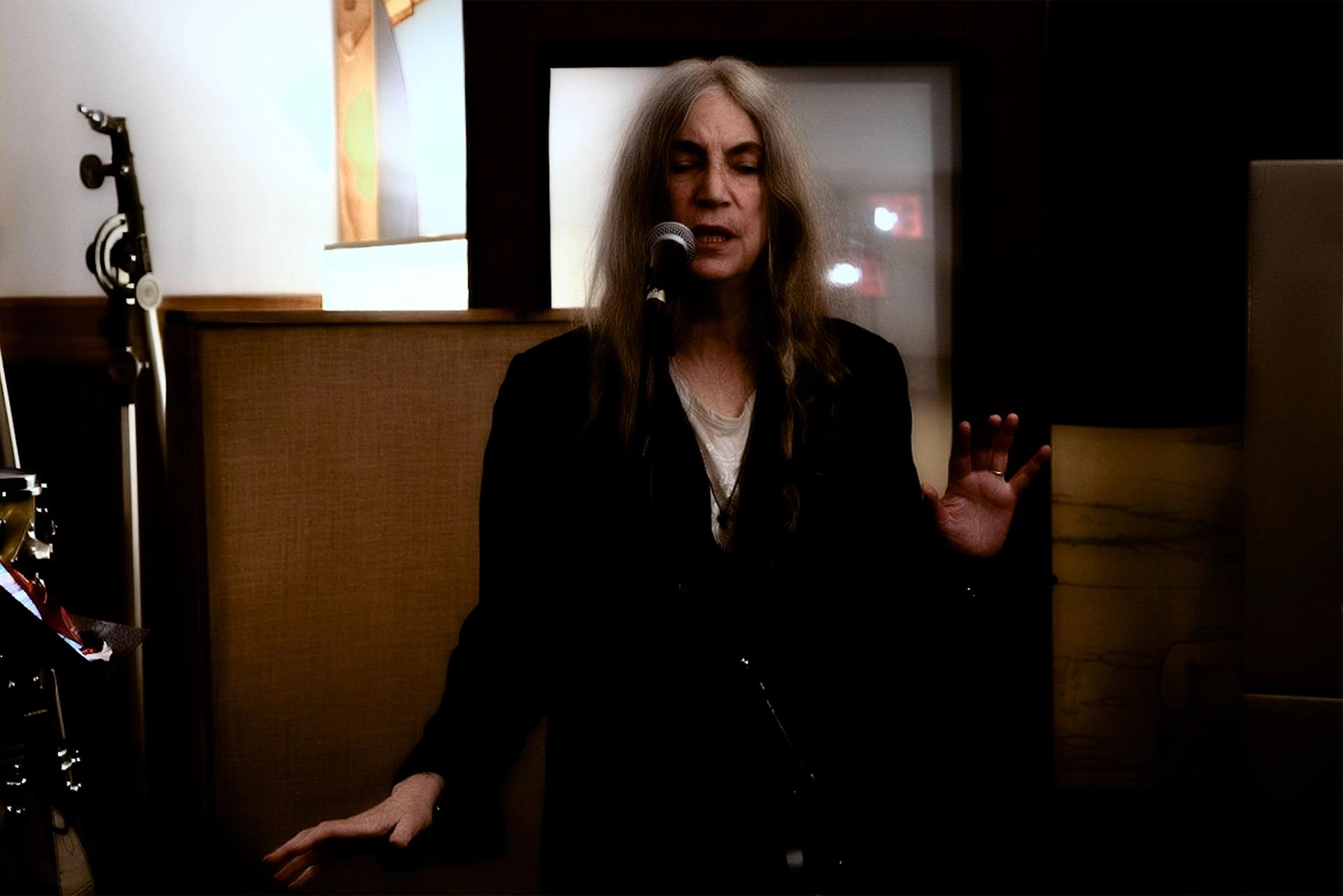 Patti Smith performing on New Years Eve © Circa, courtesy of the artist