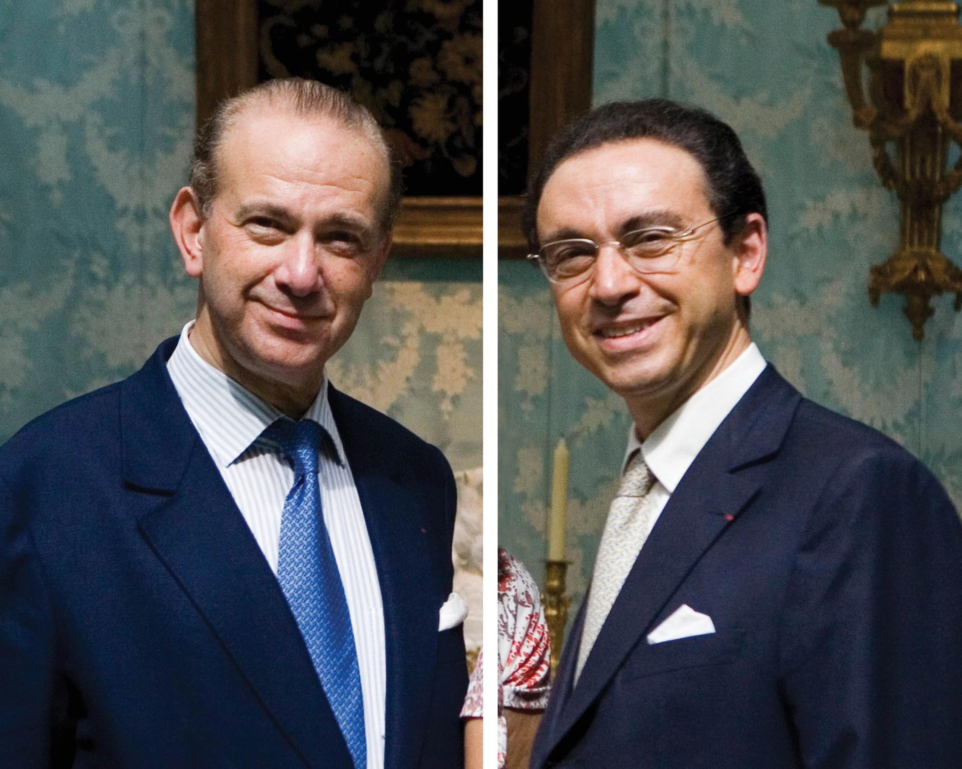 Olivier (left) and Laurent Kraemer have been charged in an ongoing investigation into allegedly fake Louis XIV furniture Laurent Hazgui/Divergence