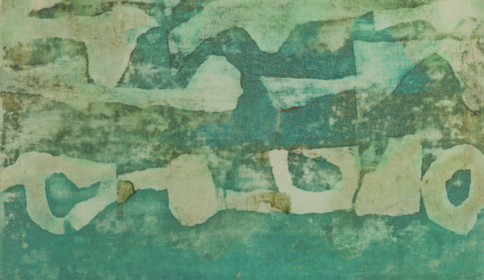 V S Gaitonde's Untitled 1983 painting failed to sell at Christie's New York South Asian Modern and Contemporary sale © Christie's