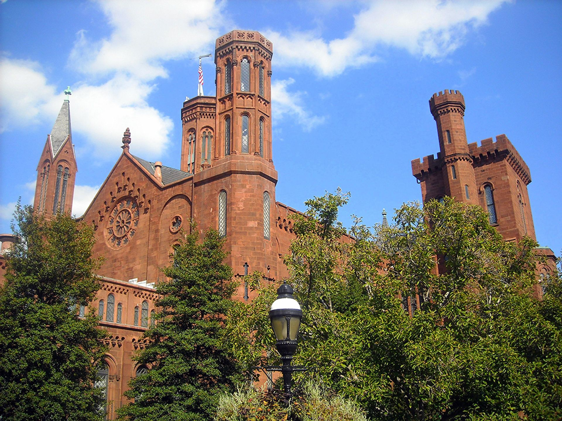 The Smithsonian Institution's Castle on the National Mall in Washington, DC