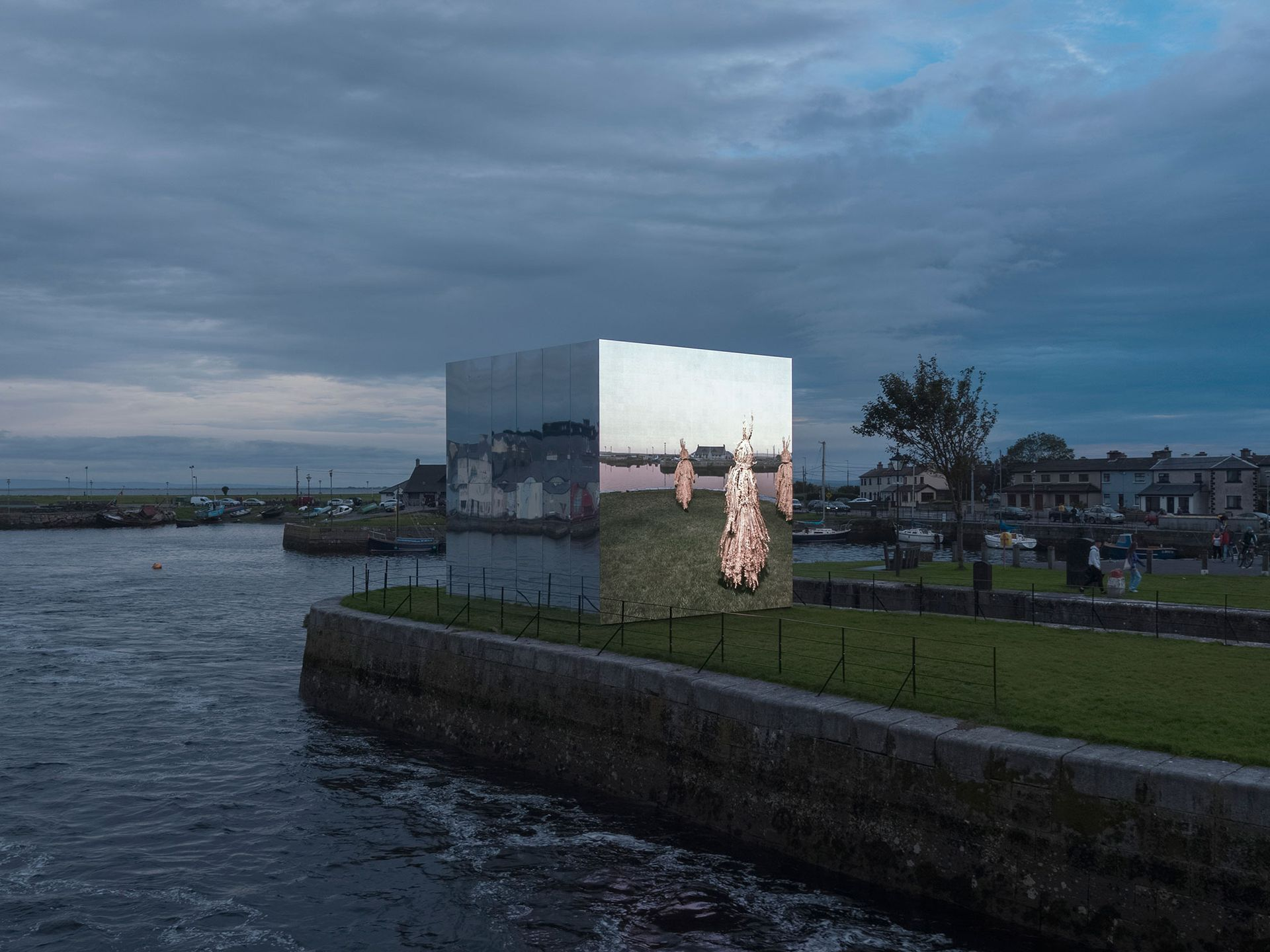 John Gerrard's Corn Work (Corrib) (2020), pictured at Galway International Arts Festival in 2020: the Irish artist will take part in the first Diriyah Contemporary Art Biennale Photo: Ros Kavanagh