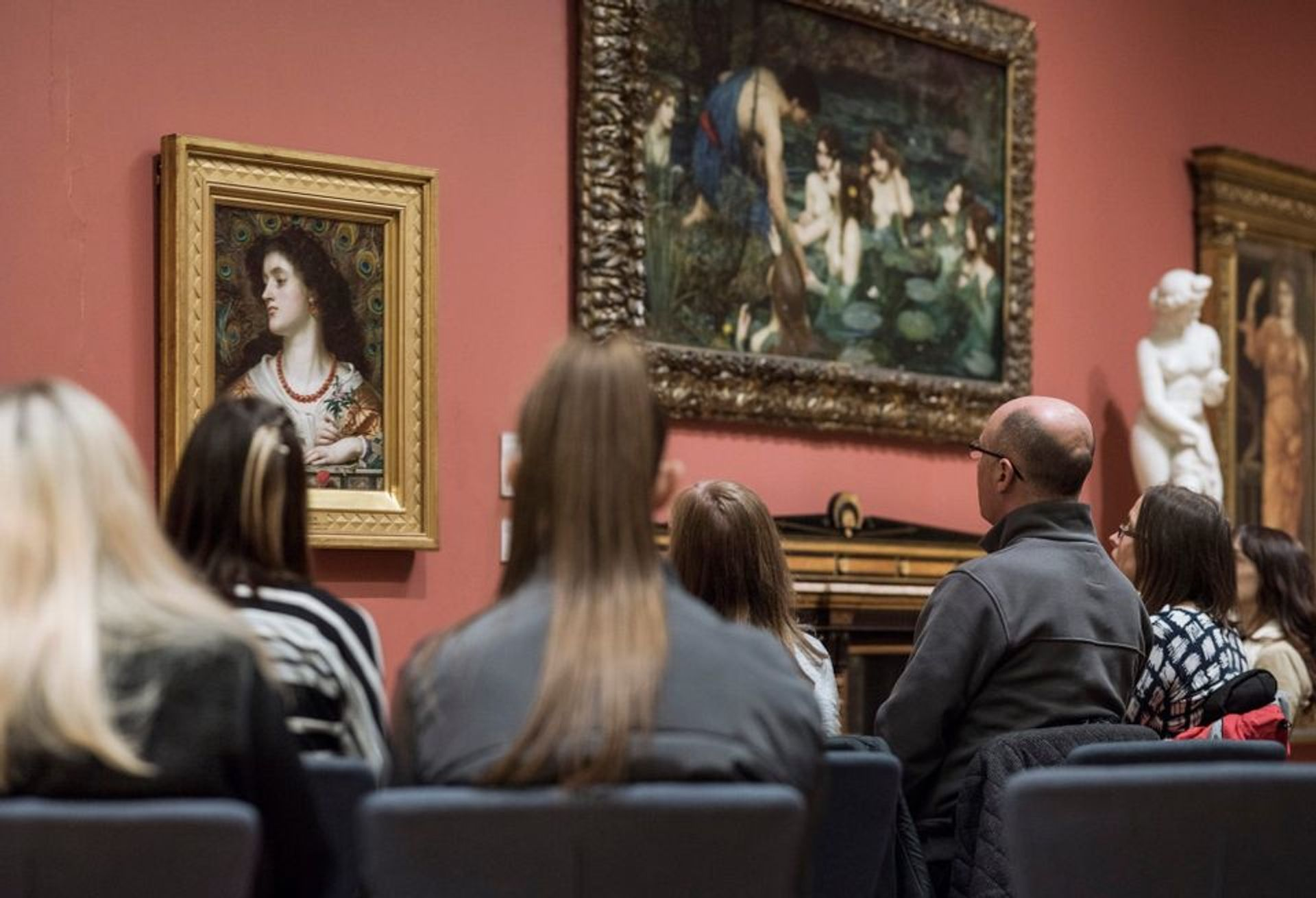 """Visitors to the Manchester Art Gallery sit and look at one work of art for 30 minutes as part of its """"Take Notice"""" series Manchester Art Gallery"""
