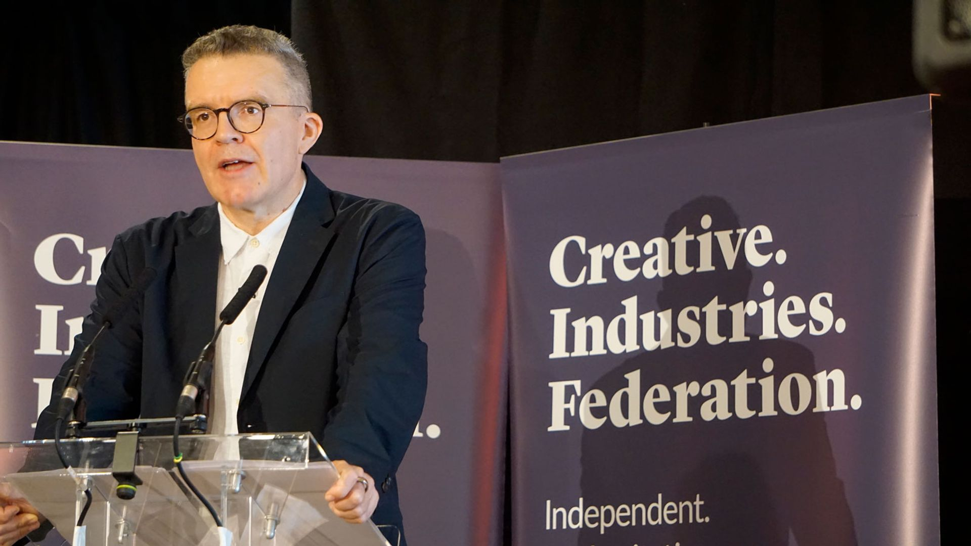 Deputy leader of the Labour Party Tom Watson said that remaining part of Europe is particularly important for the creative industries © Angelica Bomford
