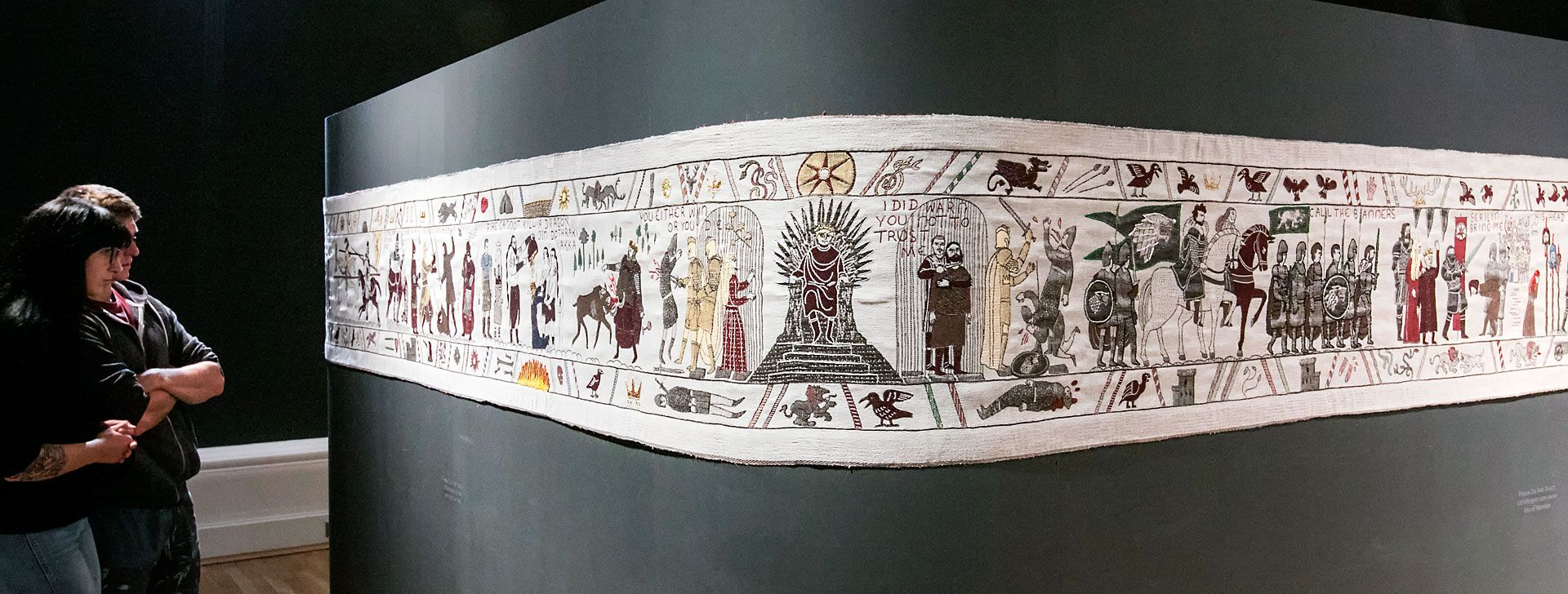 A section of the Game of Thrones tapestry at the Ulster Museum in Belfast