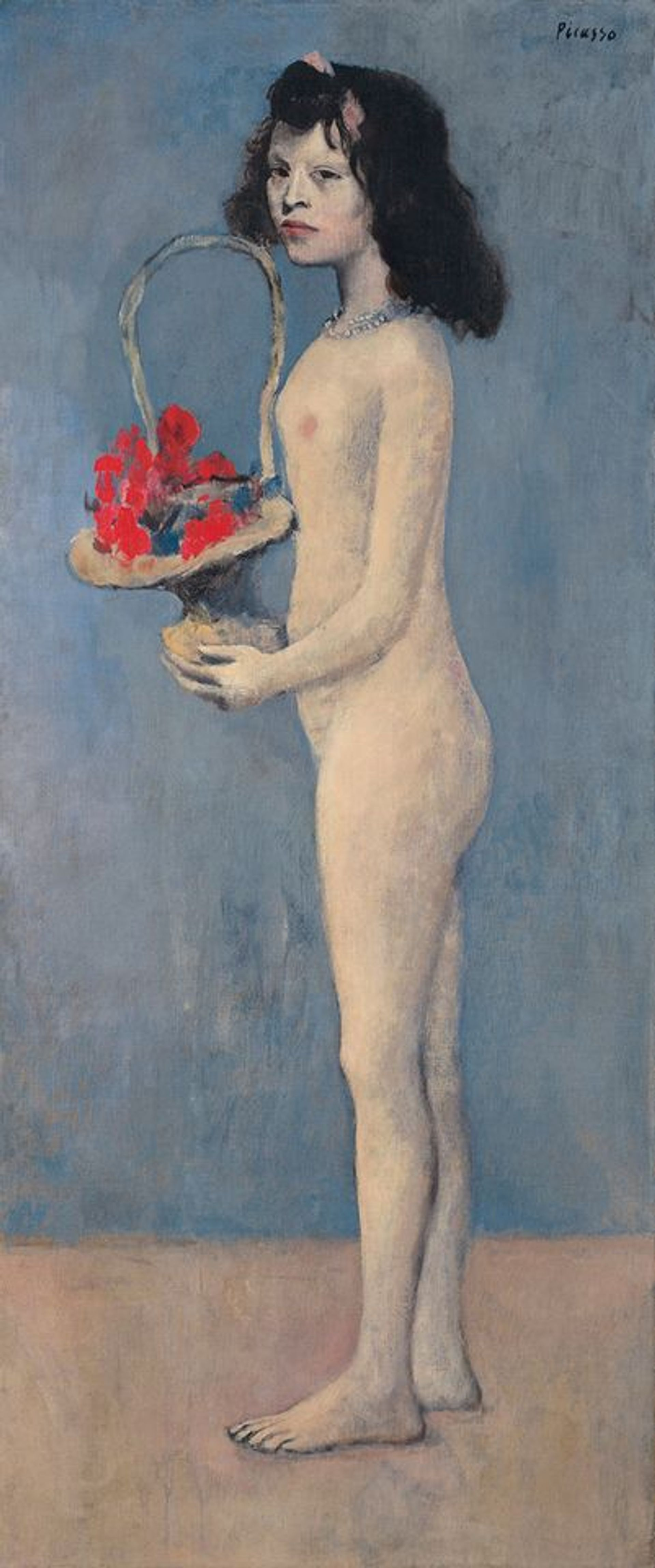 Picasso's Fillette à la corbeille fleurie (Young Girl with a Flower Basket, 1905) sold for $115m at Christie's last week Christie's Images