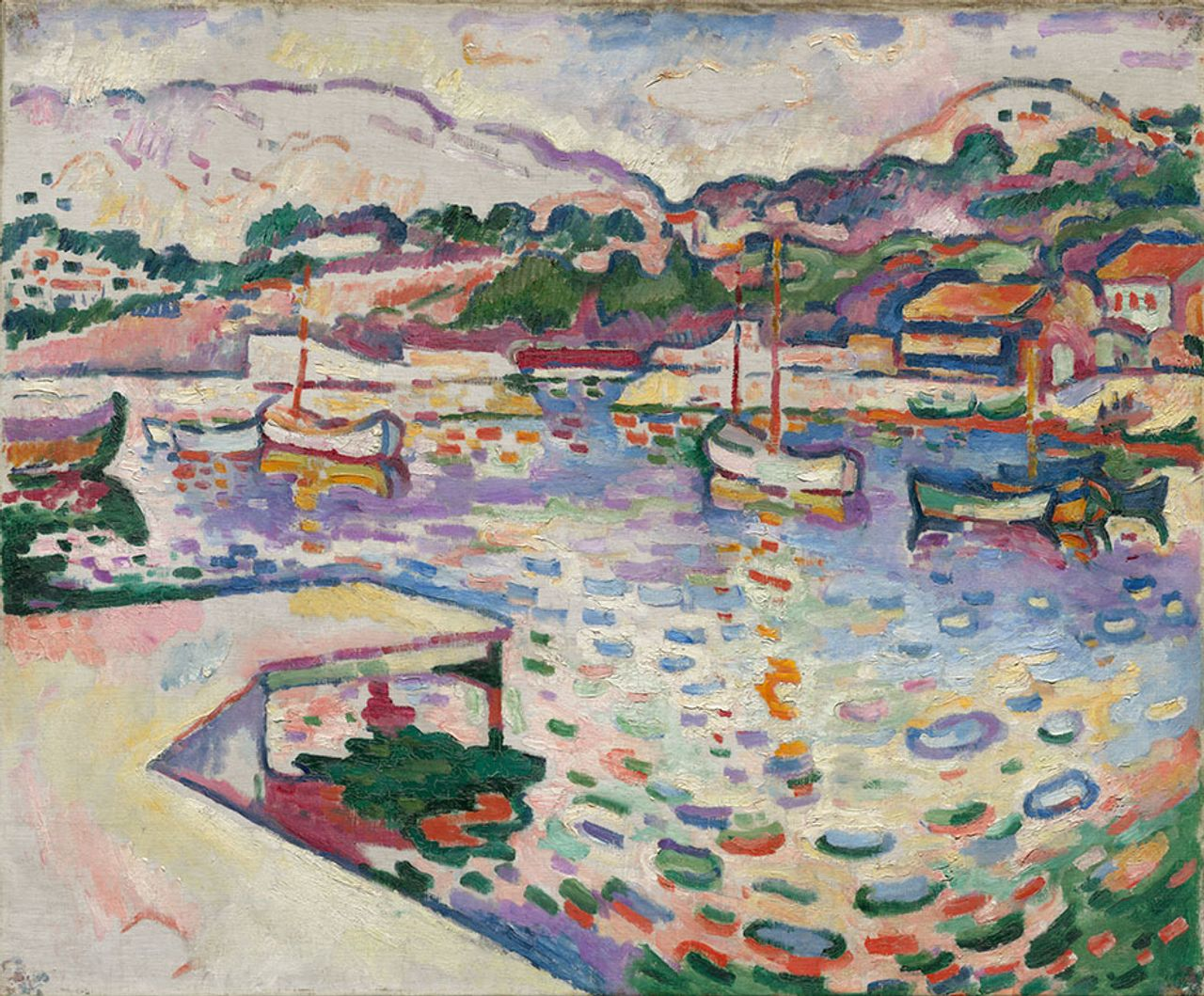 Braque, The Port de l'Estaque, The Pier (1906) Nancy F. and Joseph P. Keithley Collection Gift, 2020/Cleveland MUseum of Art