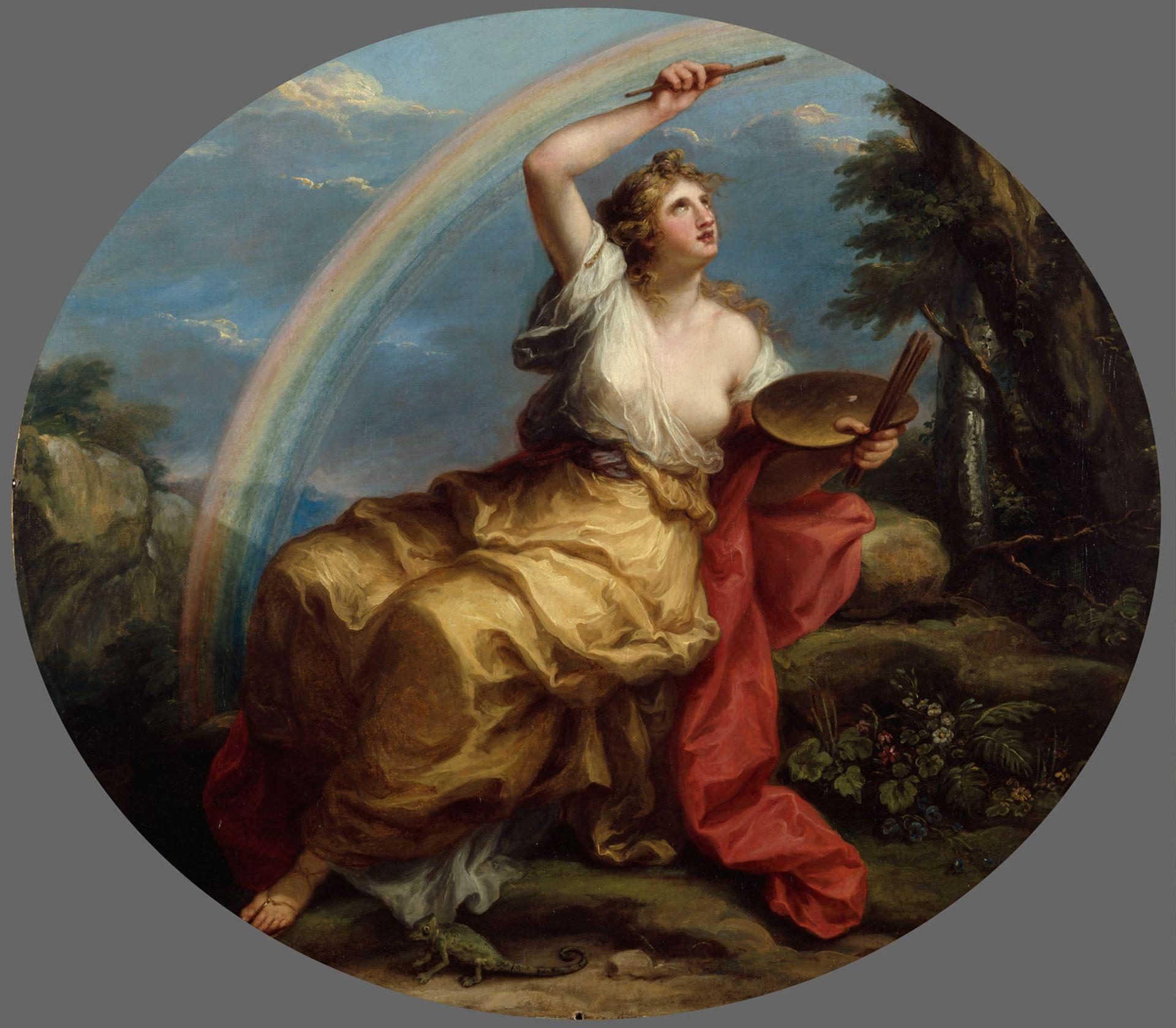 Over the rainbow: Colour (1778-80) is one of Kauffman's four Royal Academy of Arts ceiling allegories © Royal Academy of Arts. Photo: John Hammond