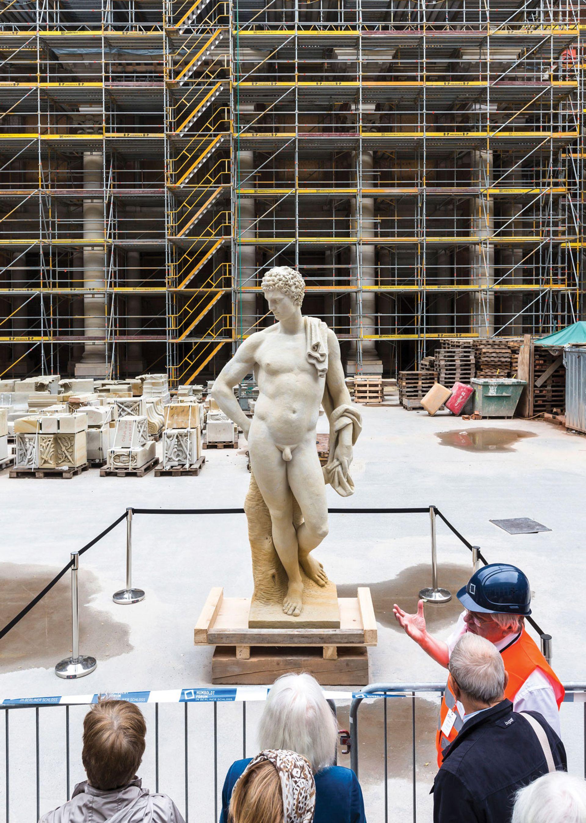 Open days at the Humboldt construction site last June attracted 40,000visitors Stiftung Humboldt Forum im Berliner Schloss/David von Becker