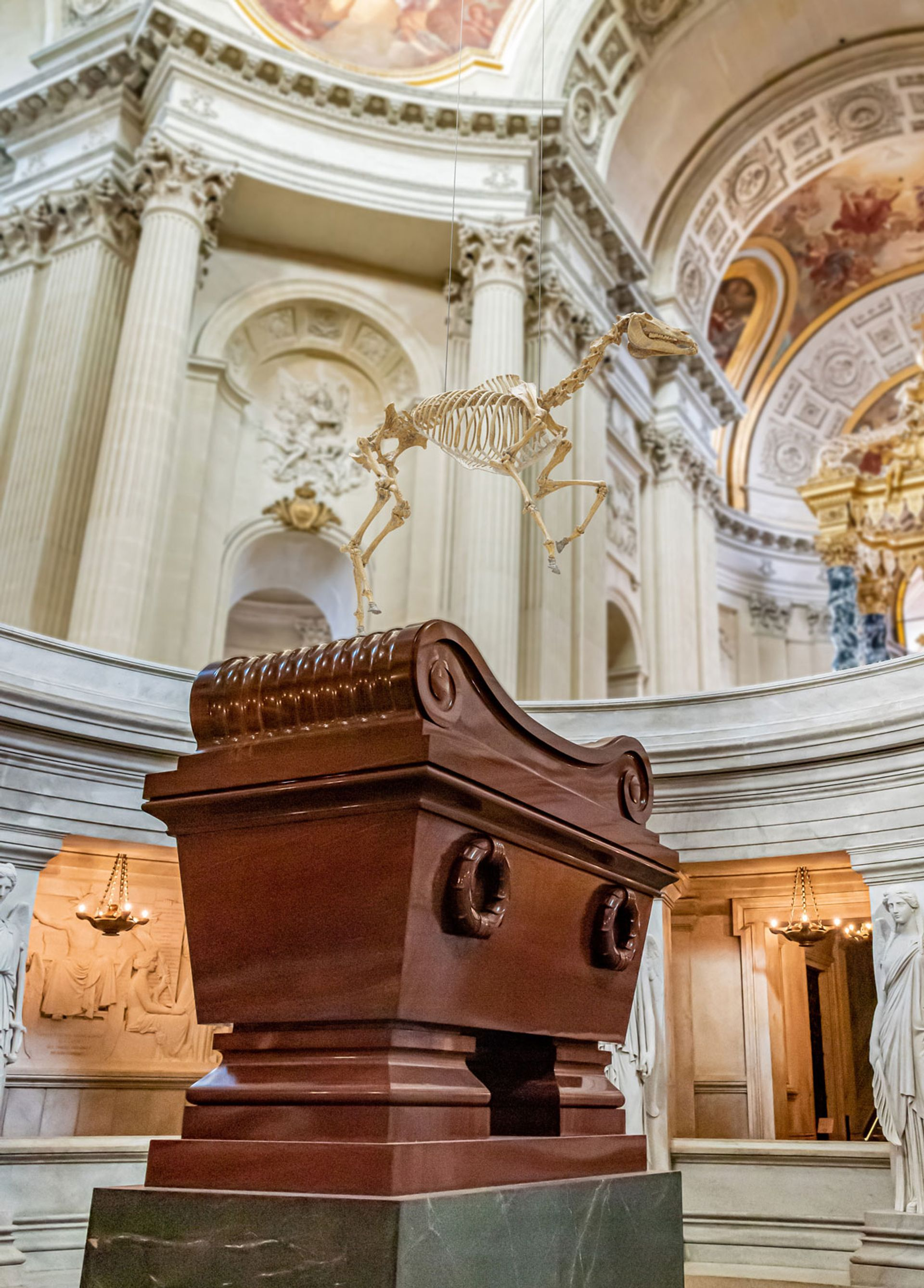 Will the new work stirrup trouble? A rendering of Pascal Convert's sculpture Memento Marengo above the tomb of Napoleon Bonaparte Courtesy of Pascal Convert