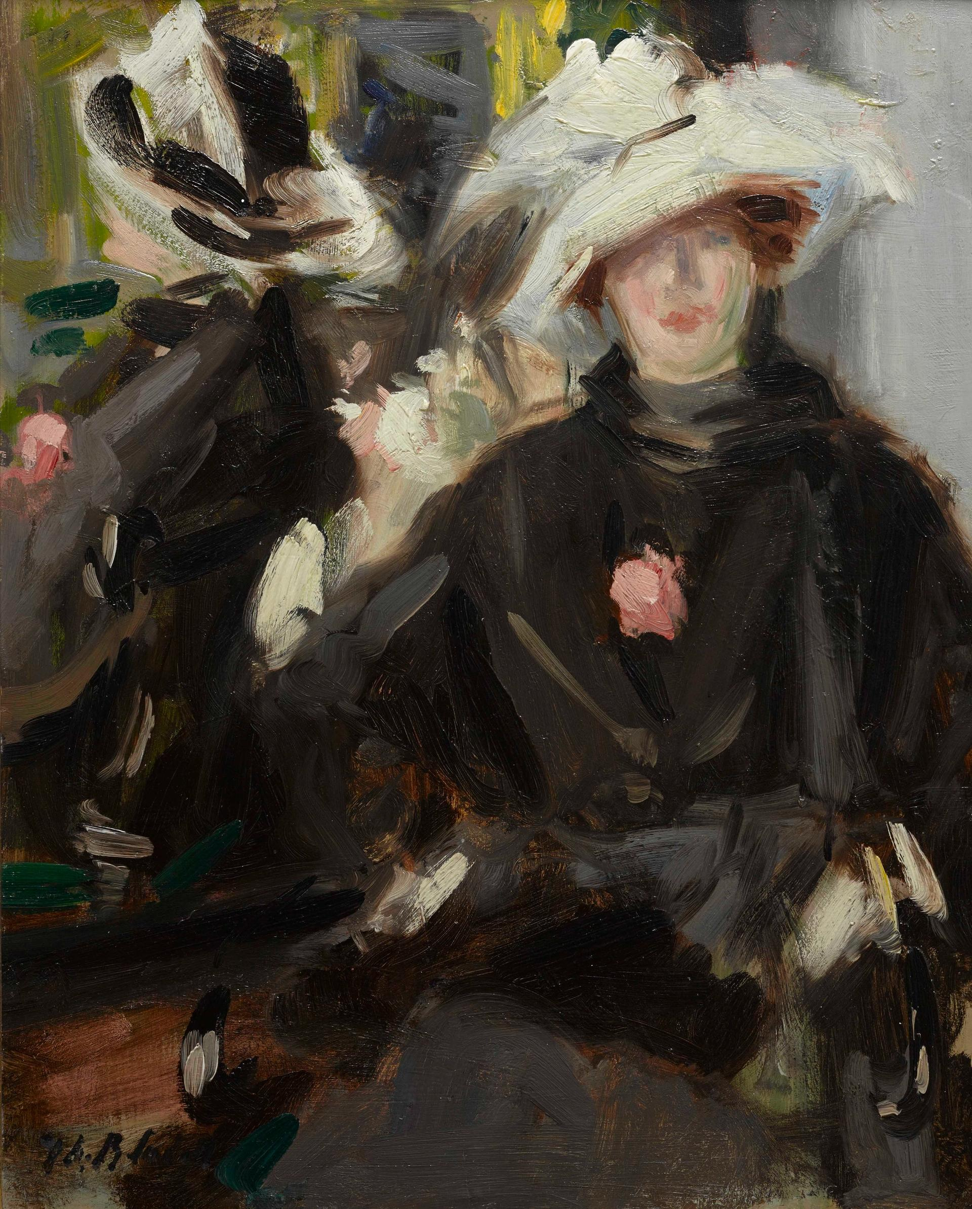 Francis Cadell's The Feathered Hat (around 1910) Courtesy of the Fleming Collection