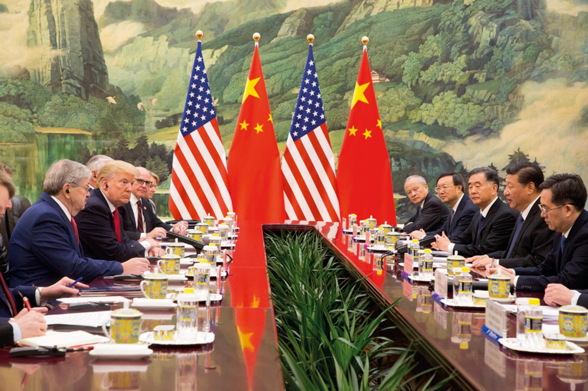 The long-running trade dispute between the US and China shows no sign of resolution despite continuing talks White House Photo / Alamy Stock Photo