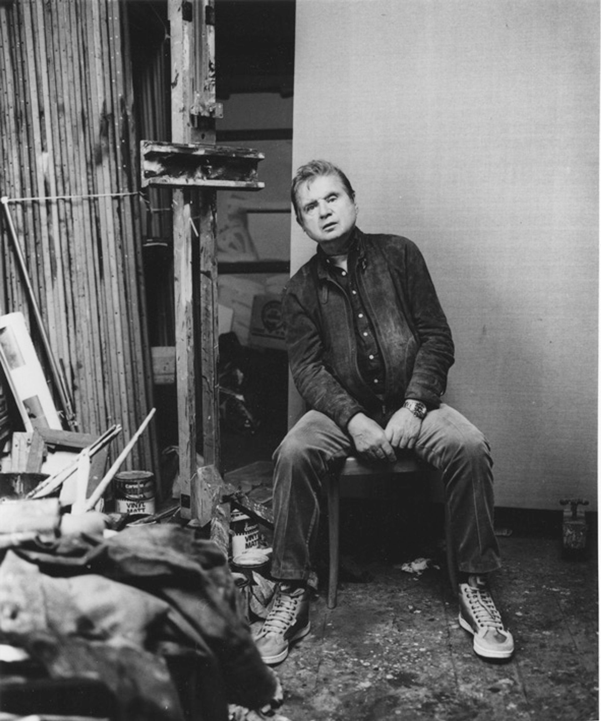 Francis Bacon in his studio © Prudence Cumming