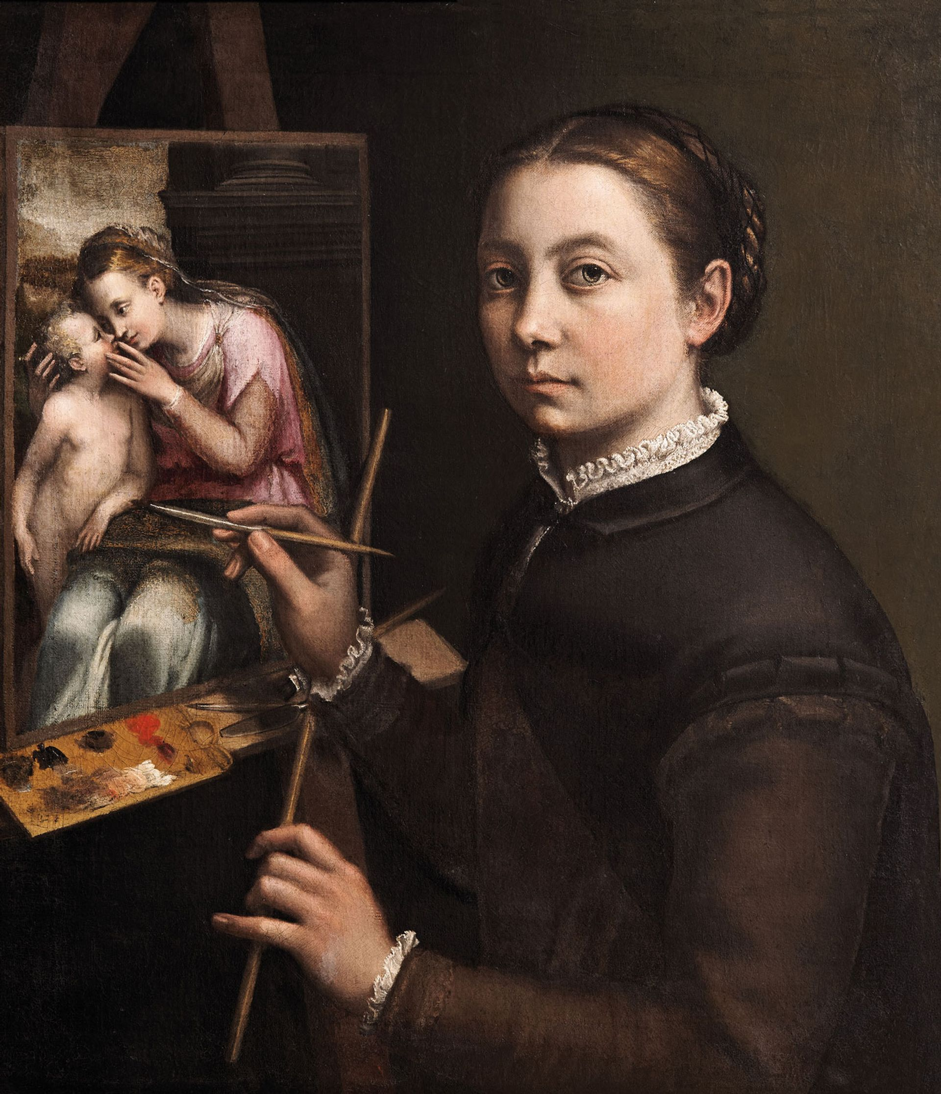 Sofonisba Anguissola's Self-Portrait at the Easel (around 1556-57) The Castle Museum in Łańcut