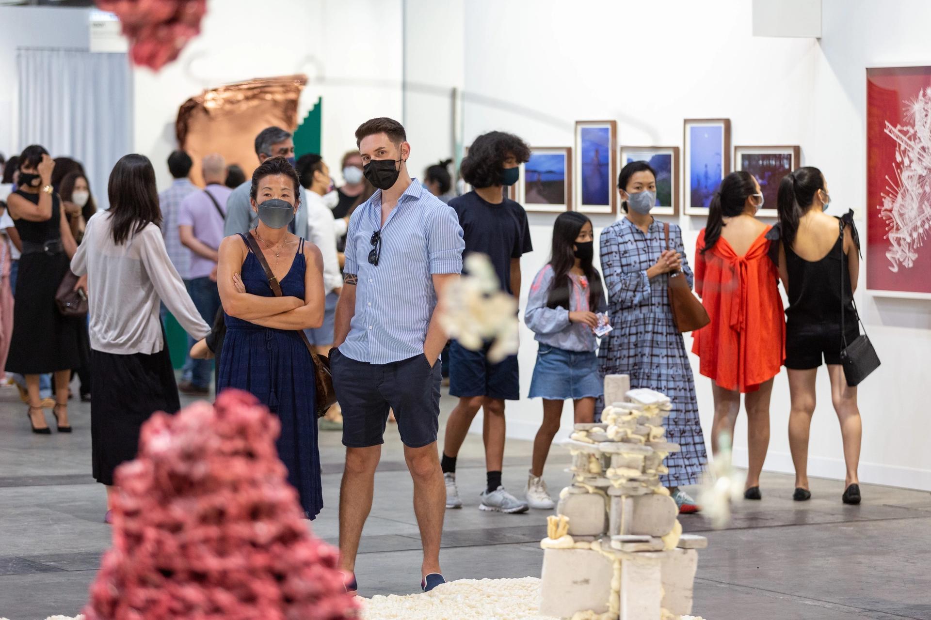 Art Basel Hong Kong was at full Covid capacity on its opening VIP day © Art Basel