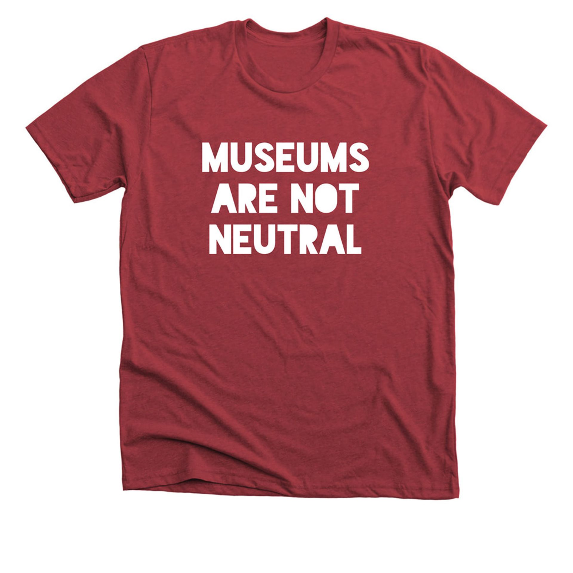 """Mike Murawski and LaTanya Autry's T-shirt, designed to """"spark conversations about the role of museums"""" Mike Murawski"""