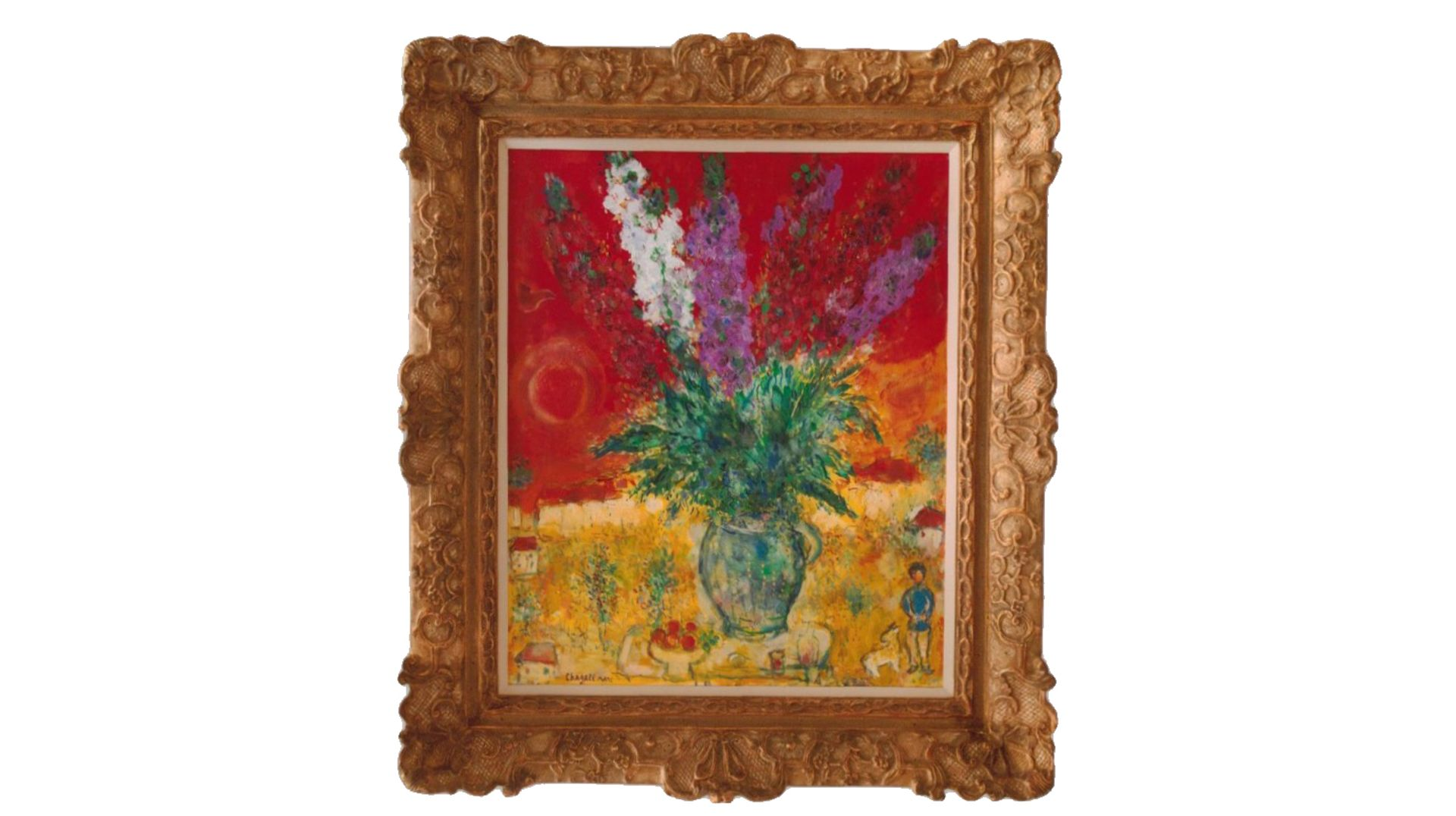 Marc Chagall's Bouquet de giroflées (1971) is listed as stolen on the FBI's database