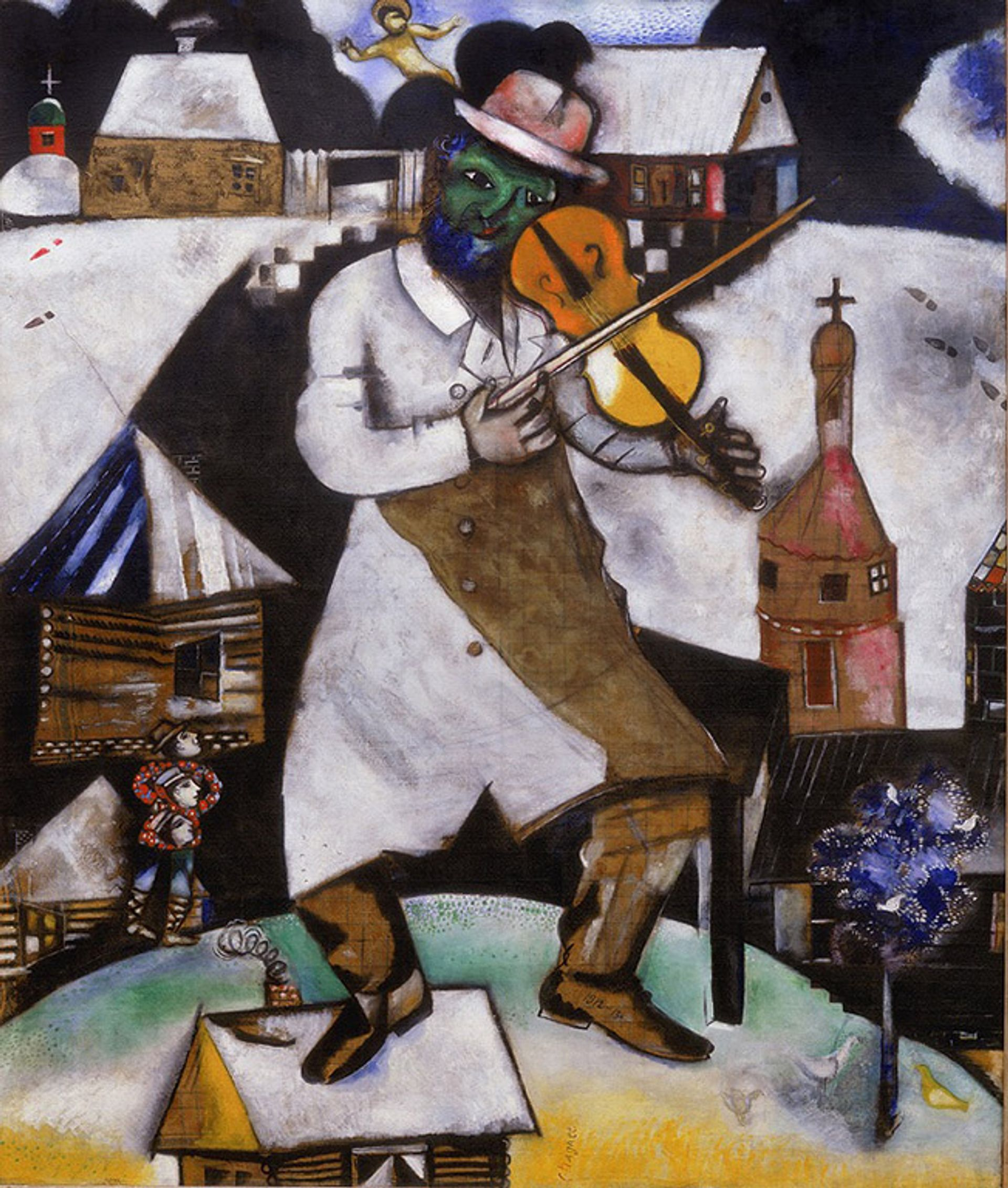 Chagall's The Fiddler (1912-13) c/o Pictoright Amsterdam