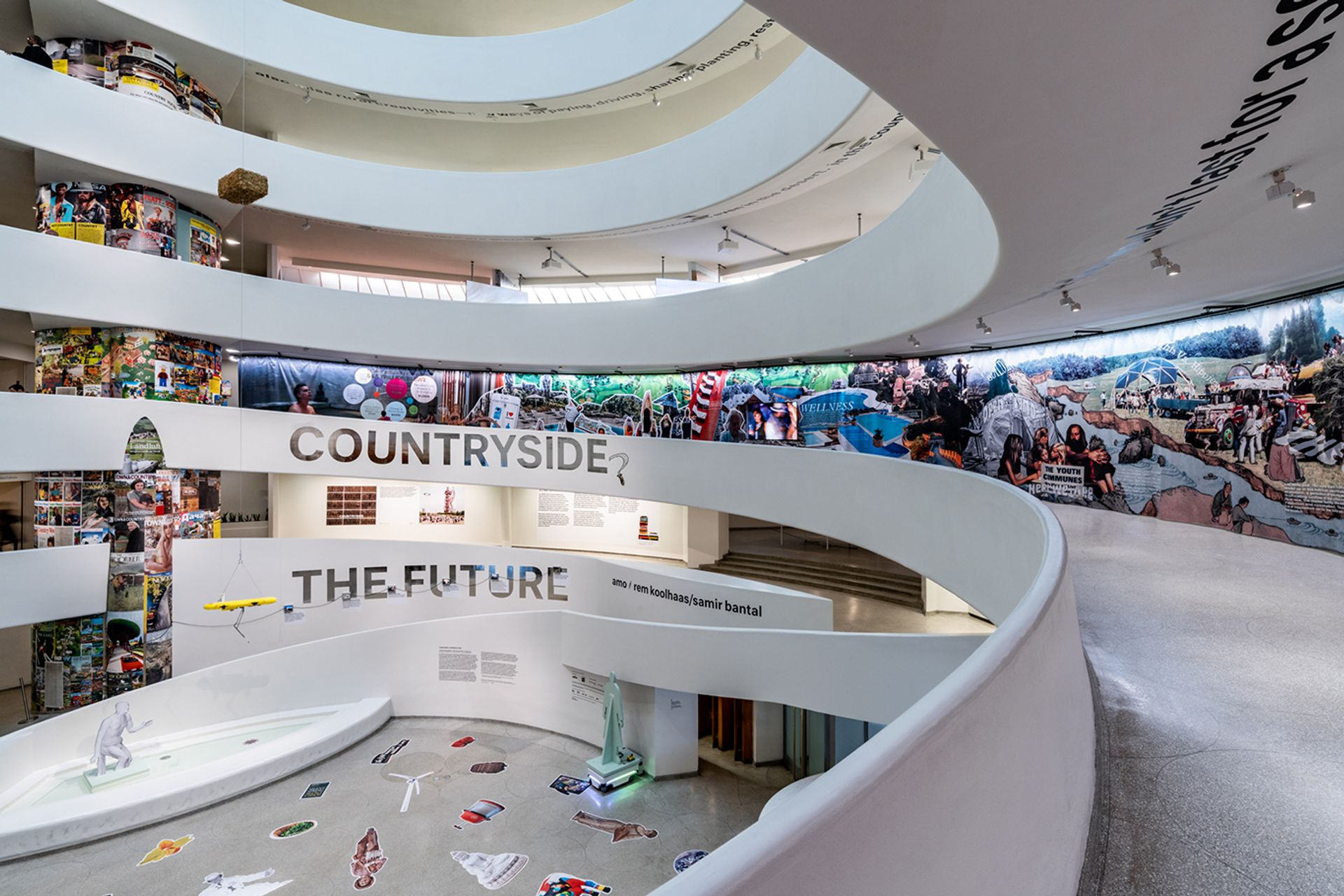An installation view of Countryside, The Future at the Solomon R. Guggenheim Museum in New York David Heald/© Solomon R. Guggenheim Foundation.
