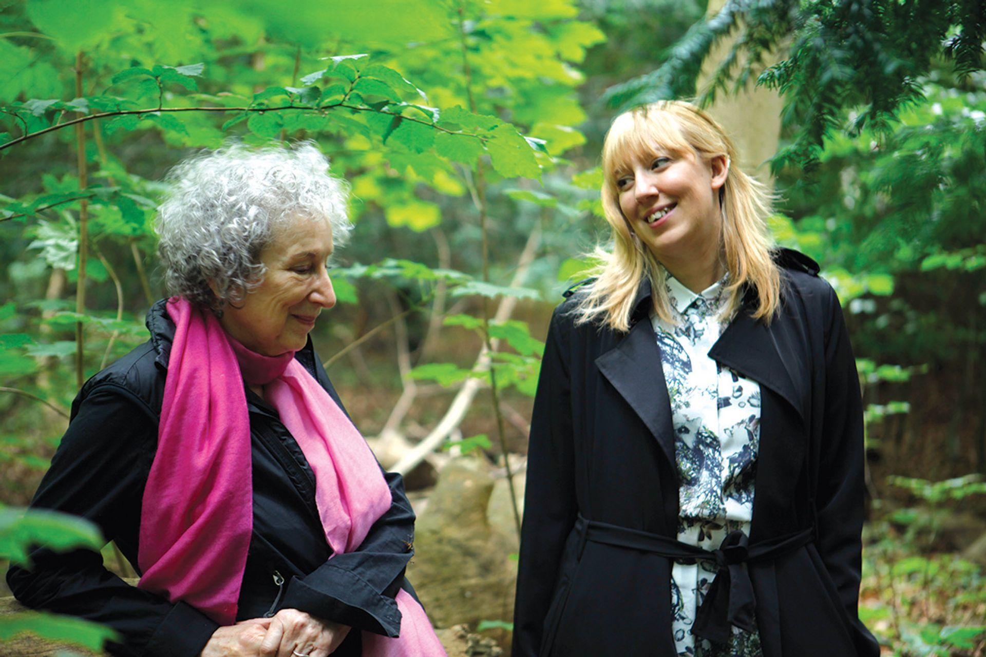 Katie Paterson with Margaret Atwood © Giorgia Polizzi