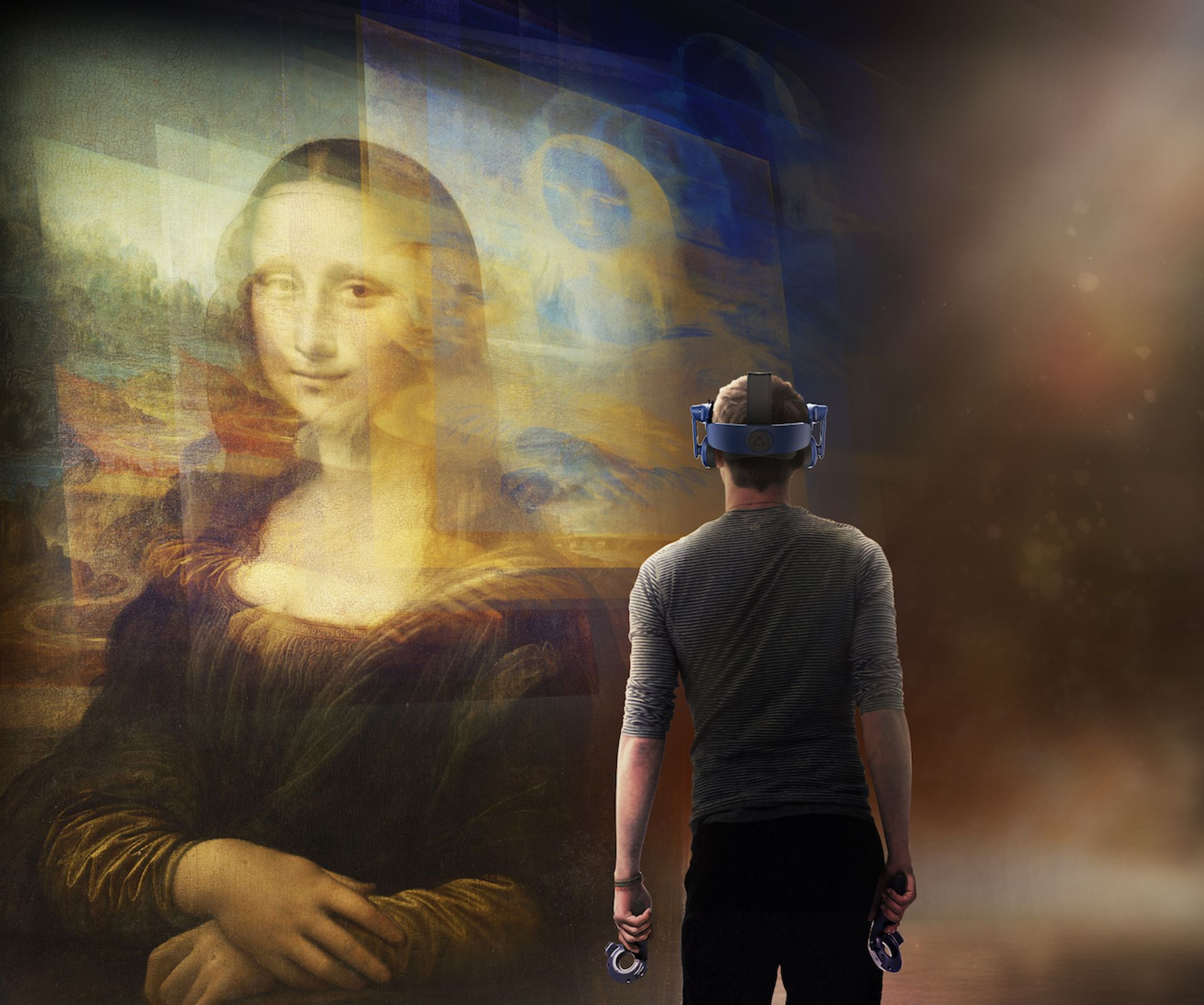 Still from Mona Lisa Beyond the Glass Courtesy Emissive and HTC Vive Arts