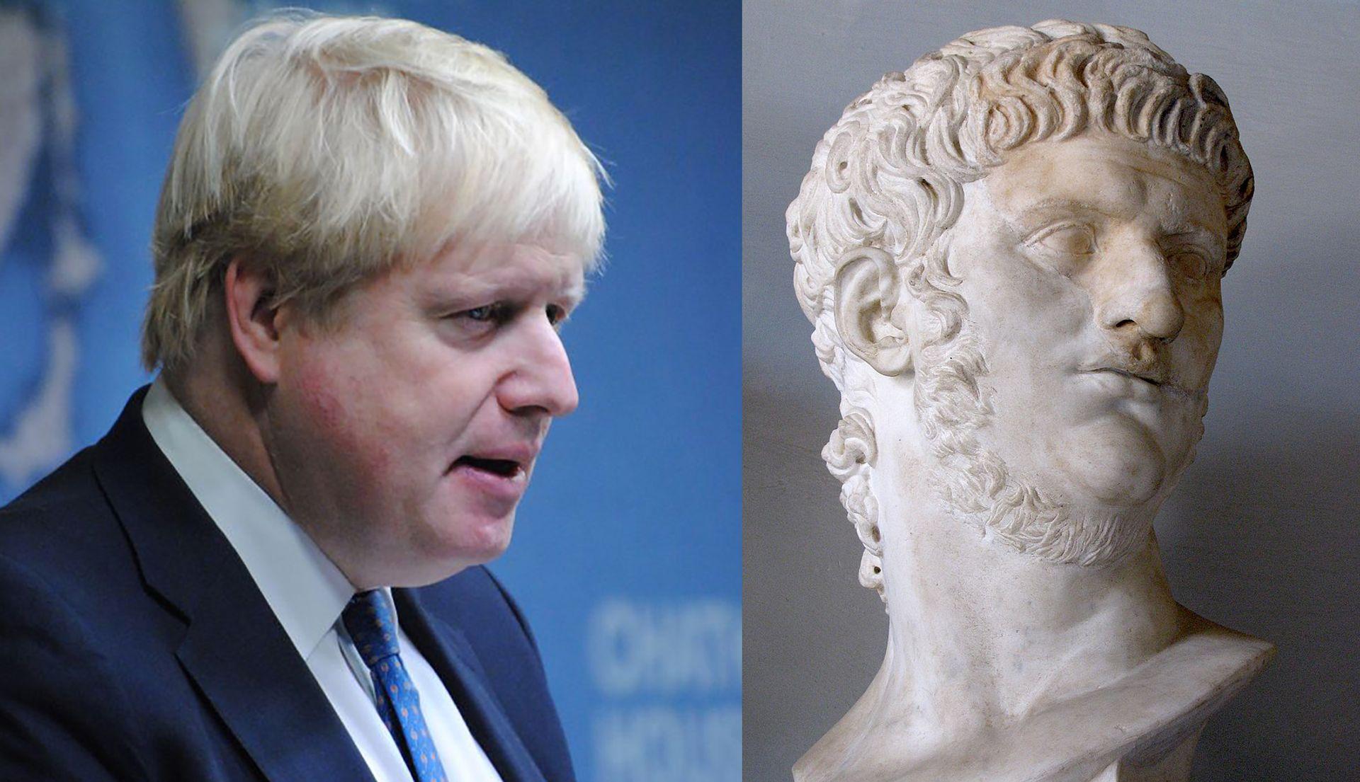Boris Johnson (left) and Emperor Nero (right)