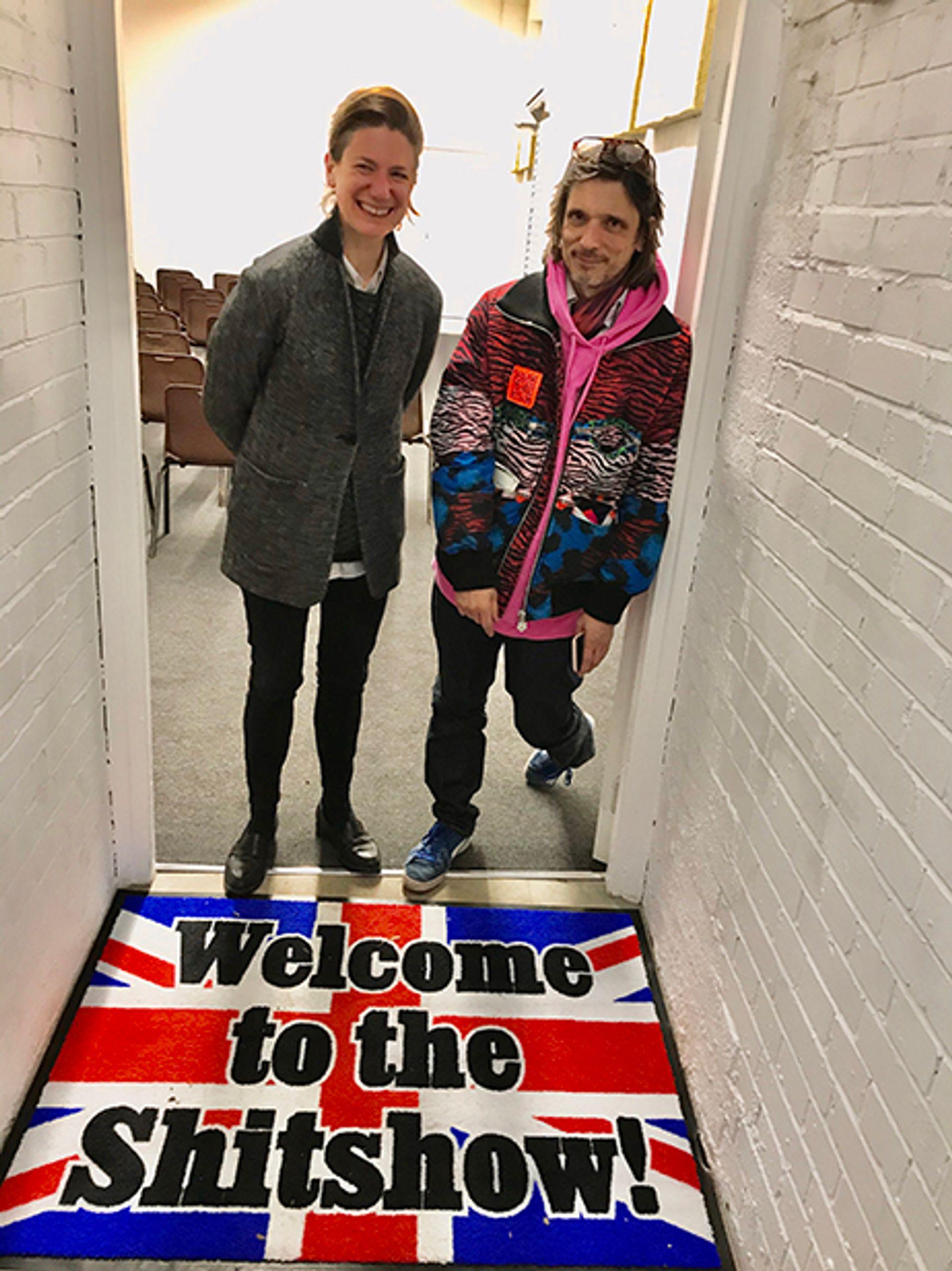 Hannah Barry and Jeremy Deller Courtesy Louisa Buck