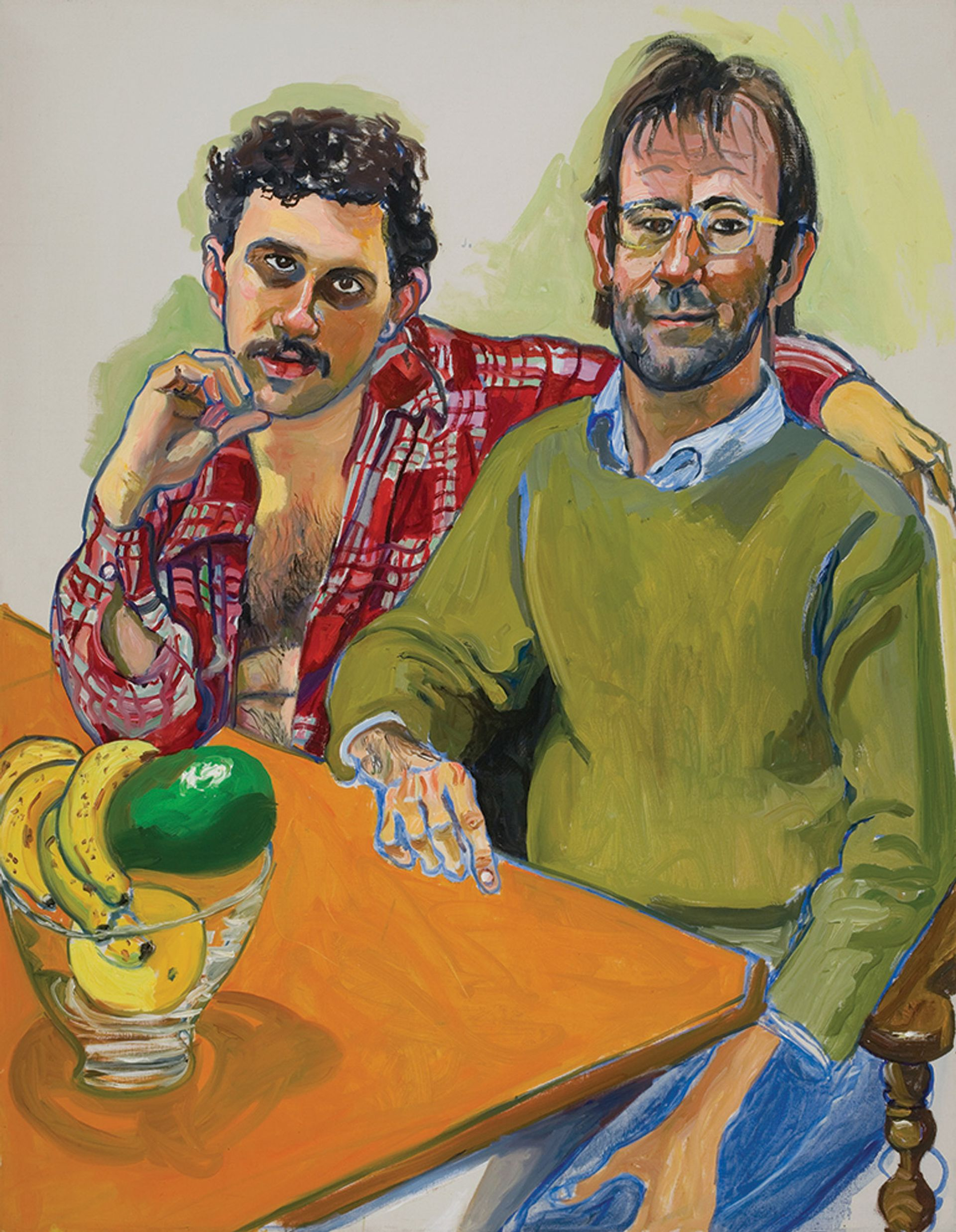 """On show at the Met will be Geoffrey Hendricks and Brian (1978), one of around 100 works by Alice Neel, a self-confessed """"collector of souls"""" © The Estate of Alice Neel"""