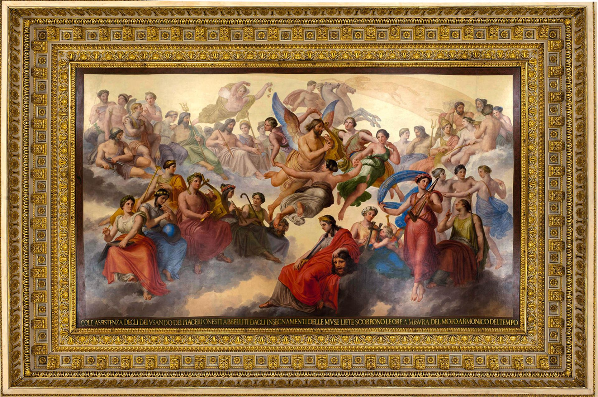 Detail from The Dance of the Hours (1839-58)on the ceiling of the ballroom in the Palazzo Reale, Turin © Palazzo Reale, Turin