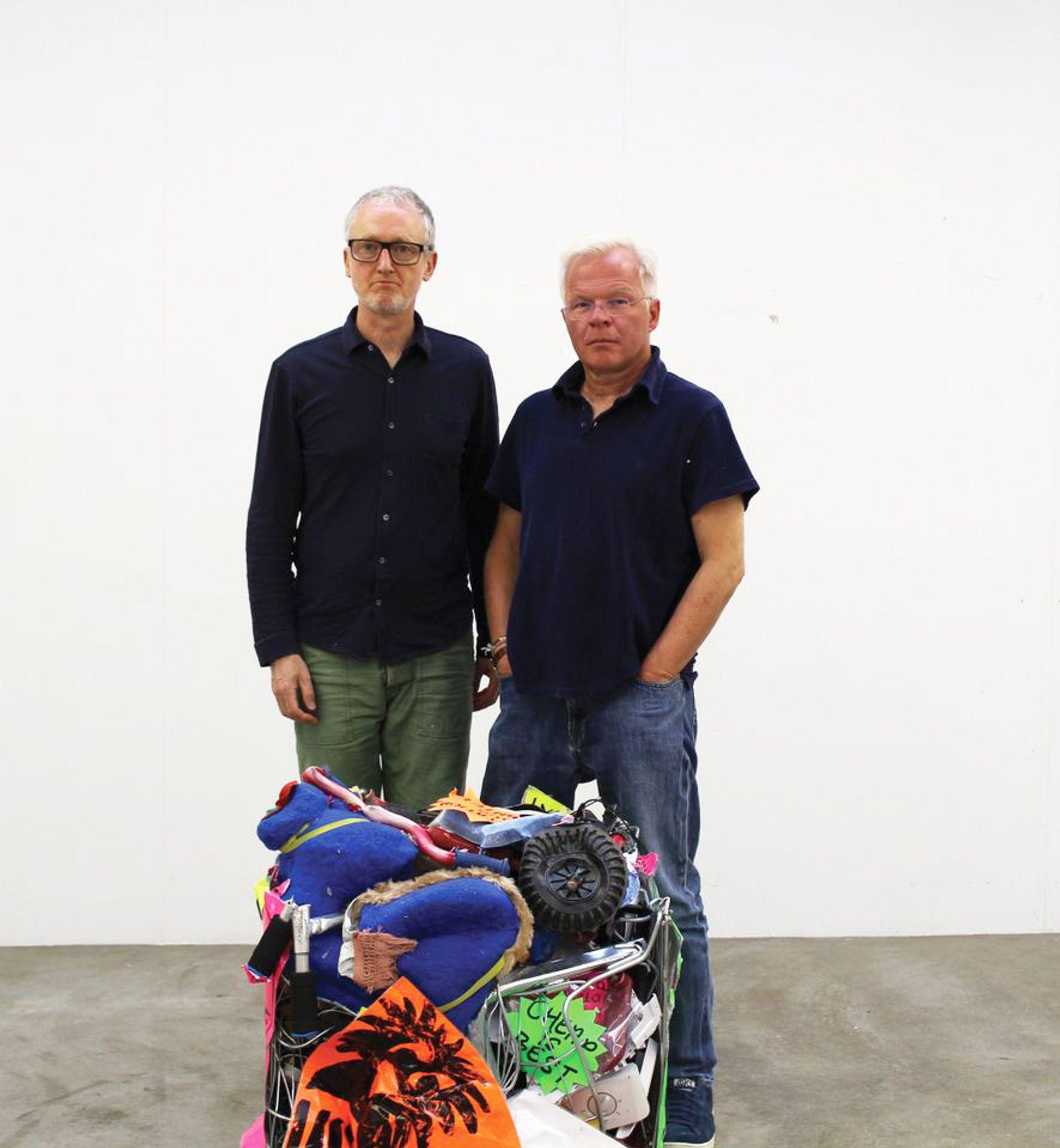 Michael Landy (left) was signed by Karsten Schubert 30 years ago © Karsten Schubert gallery