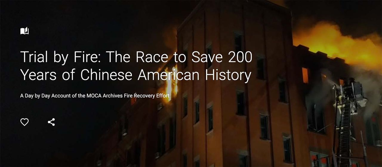 Online visitors can experience a race by the Museum of Chinese in America to salvage its artefacts after a five-alarm fire last year Museum of Chinese in America/Google Arts & Culture