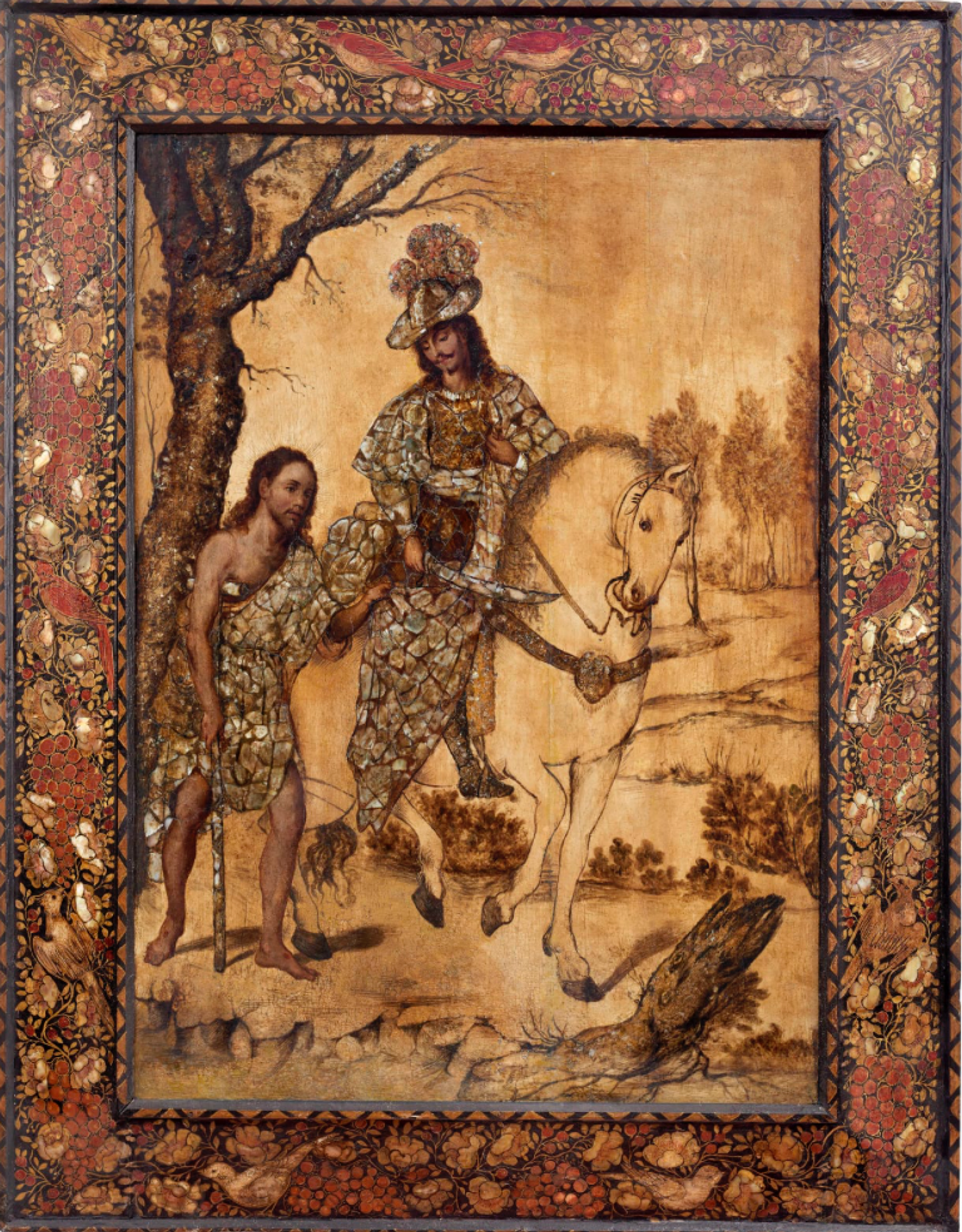 Saint Martin on Horseback, Mexico, ca. 1690 by Miguel and Juan Gonzáles Courtesy of Colnaghi