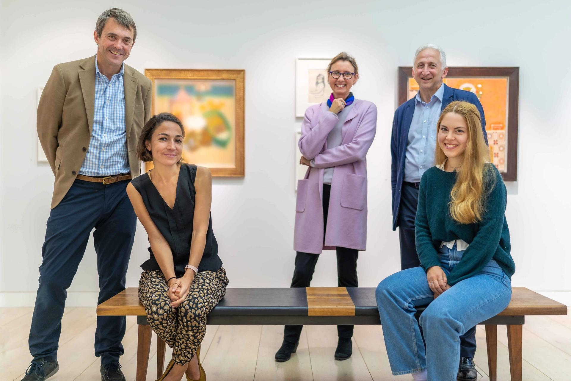 The Artistate team (minus Pierre Valentin), from left: John Martin, Jessica Carlisle, Catherine Hill, Keith Graham and Camille Beckmann Photo: Walter Finch