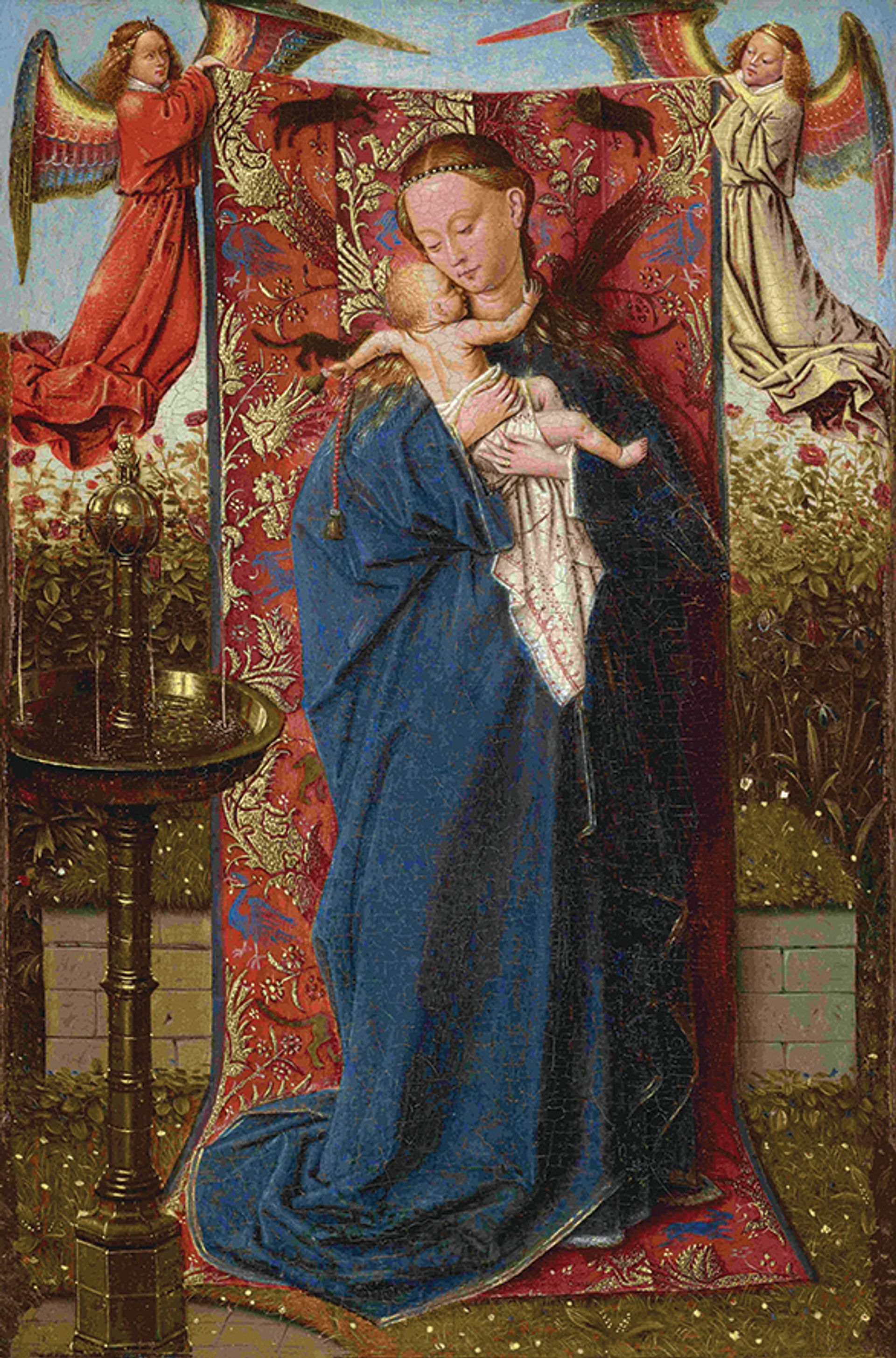The Frick's Madonna at the Fountain (1440) will appear  in the Ghent exhibition alongside a 1439 version from Antwerp Courtesy of the Frick Collection