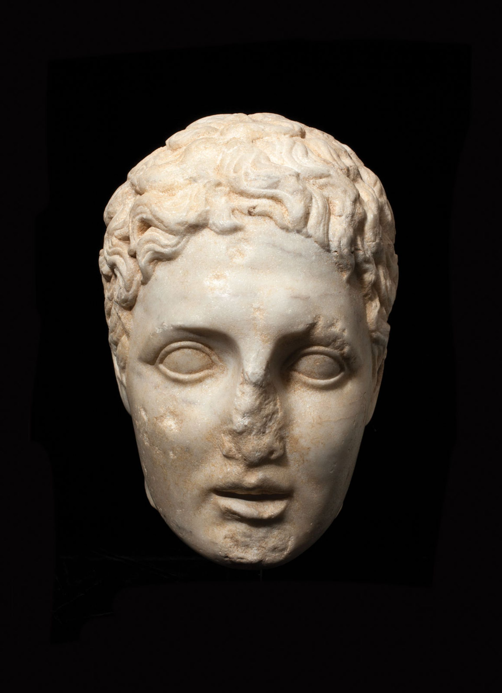 A Hellenistic head of a youth (second to first century BC), priced at £160,000 Charles Ede