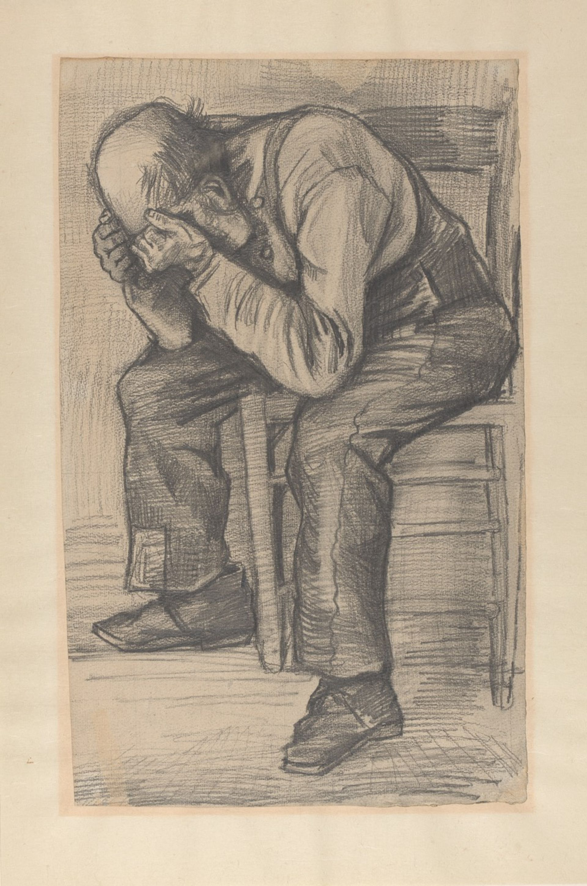 Van Gogh's study for Worn out (November 1882) Private collection;  photo: Van Gogh Museum, Amsterdam (Heleen van Driel)