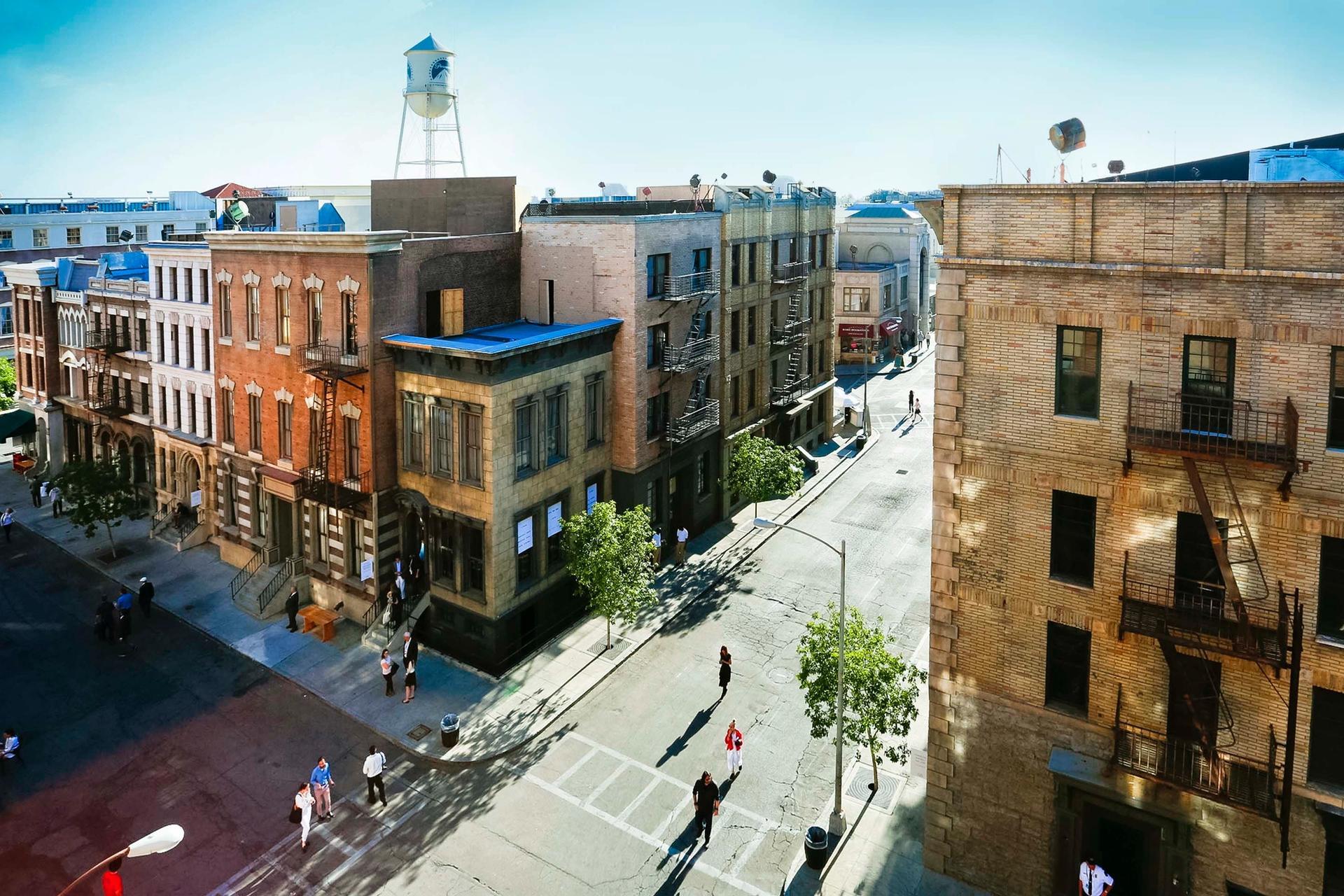 The New York city backlot at Paramount Pictures Studios in Los Angeles © Paramount Pictures Studios