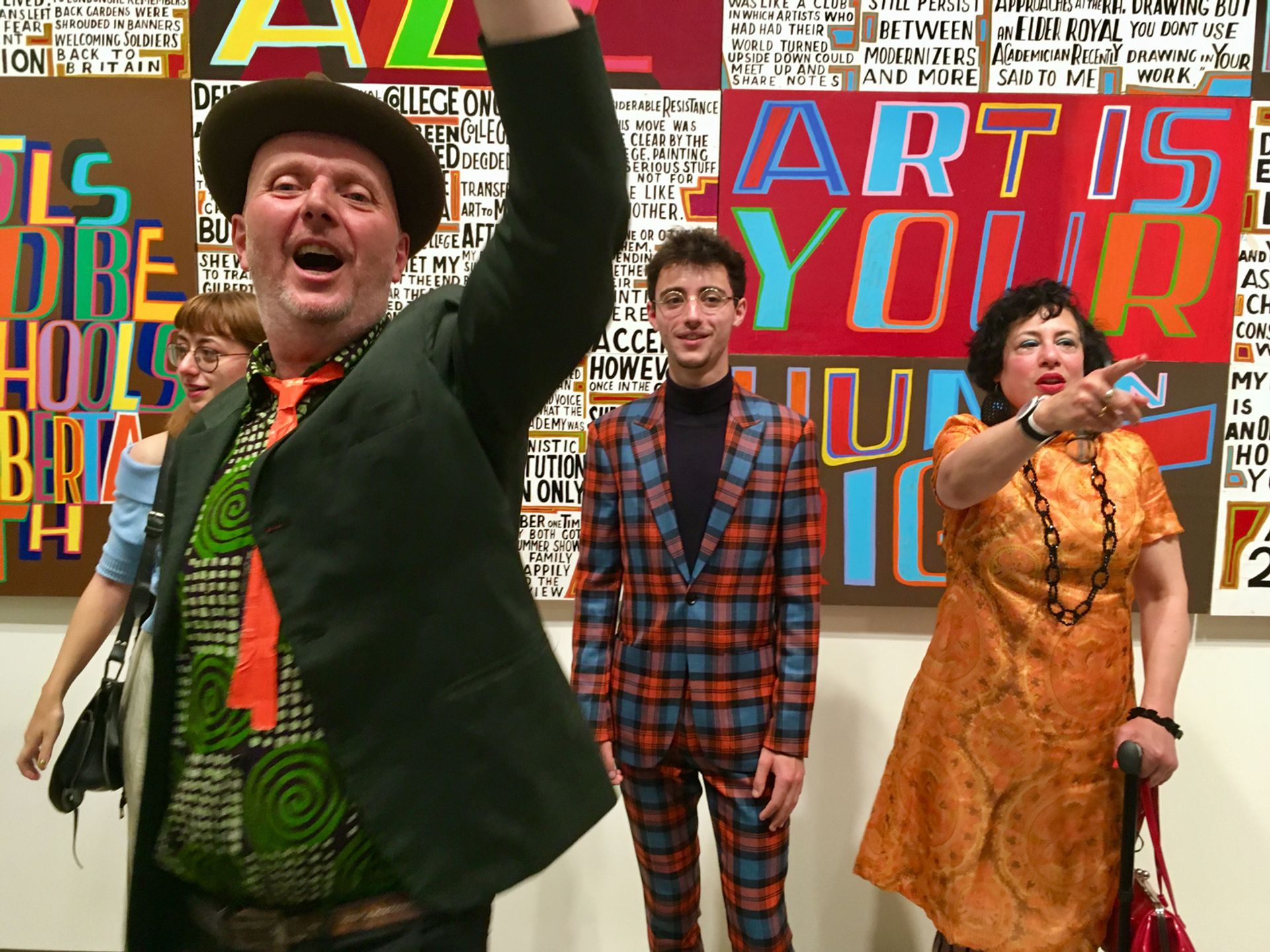 Bob and Roberta Smith, with his children Etta and Fergal, and wife Jessica © Louisa Buck