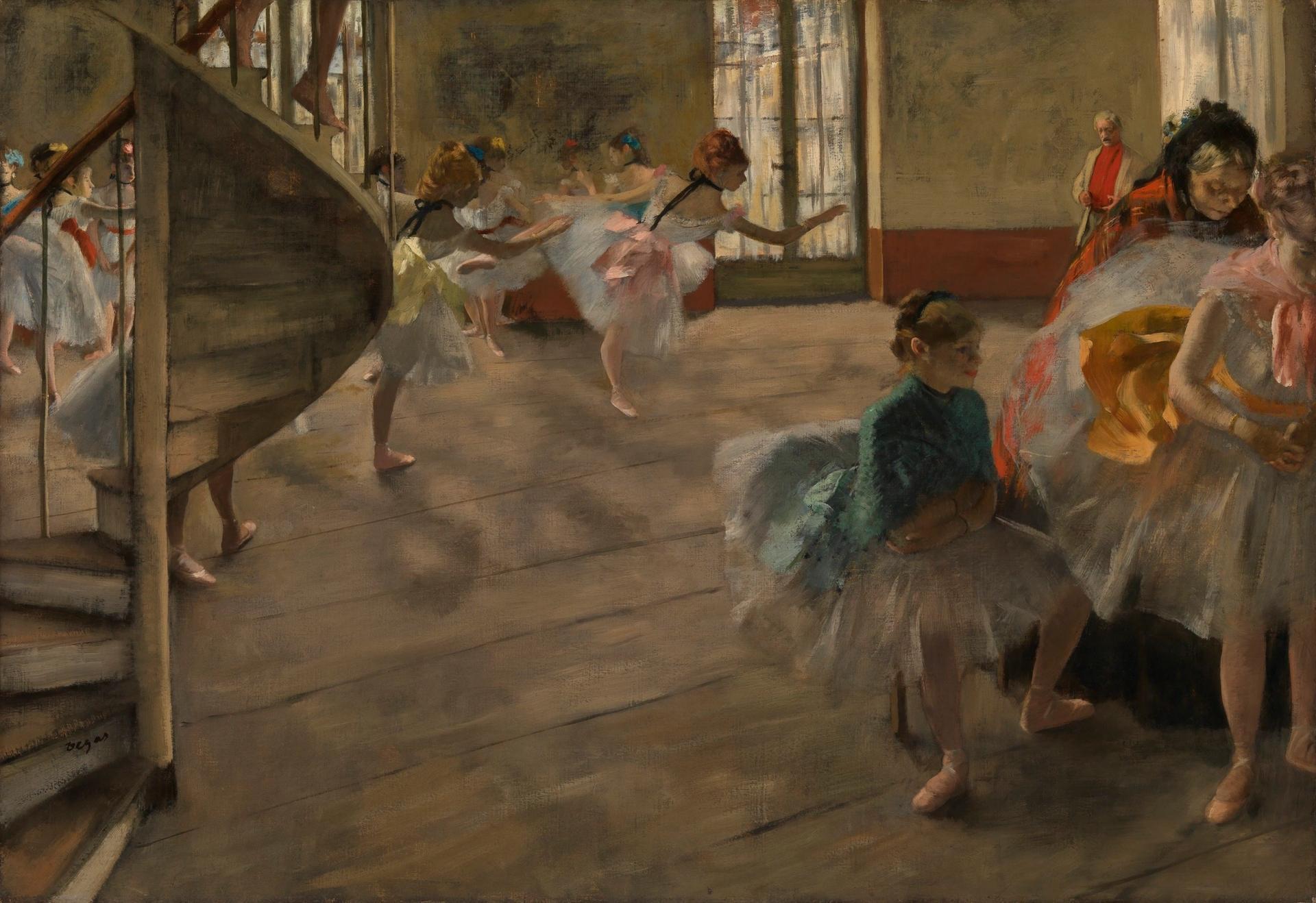 Edgar Degas, The Rehearsal (1874) CSG CIC Glasgow Museums Collection
