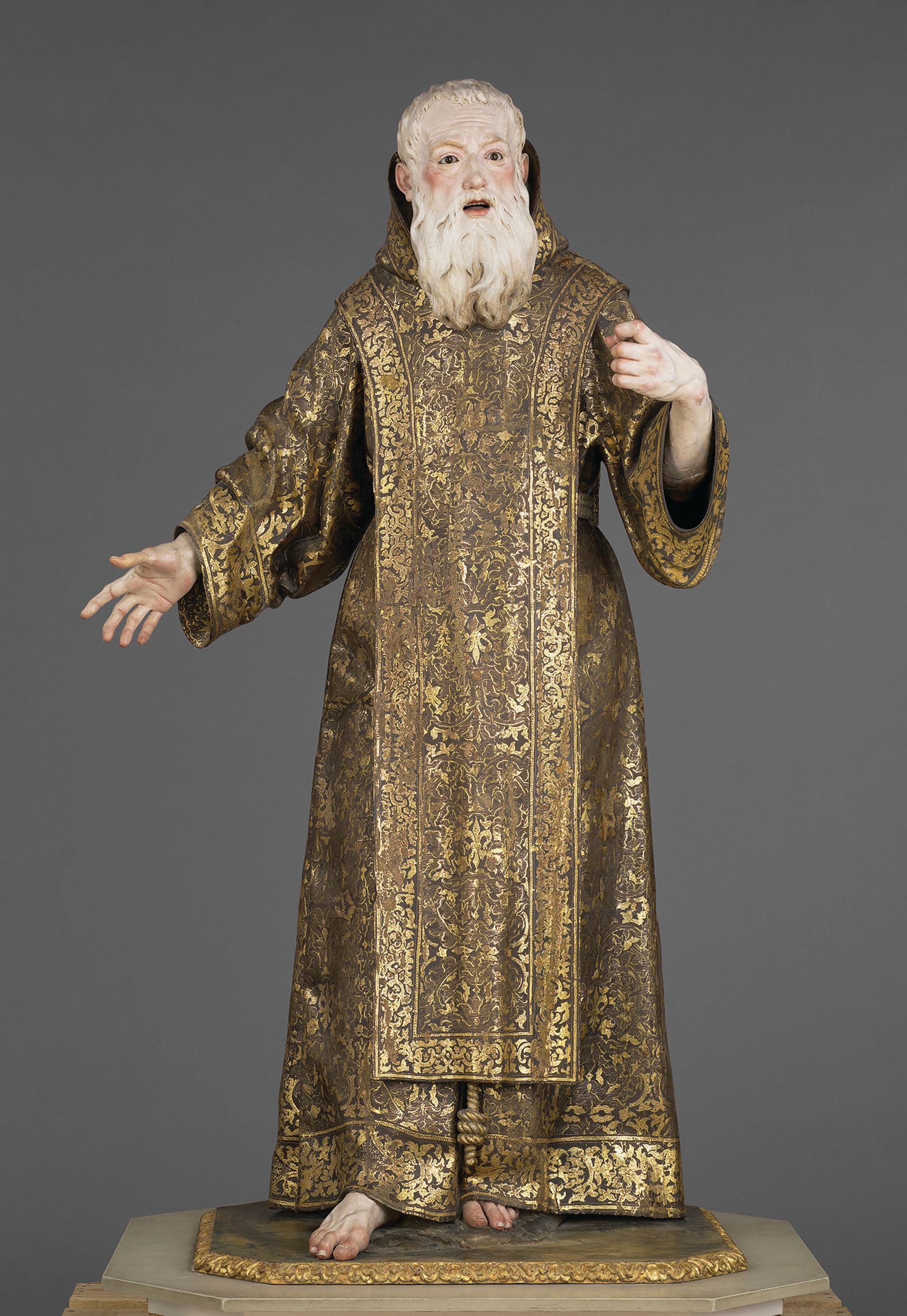 Roldán's figures are characterised by their expressive faces. Saint Ginés de la Jara (around 1692) is in the J. Paul Getty Museum in Los Angeles Courtesy J. Paul Getty Museum