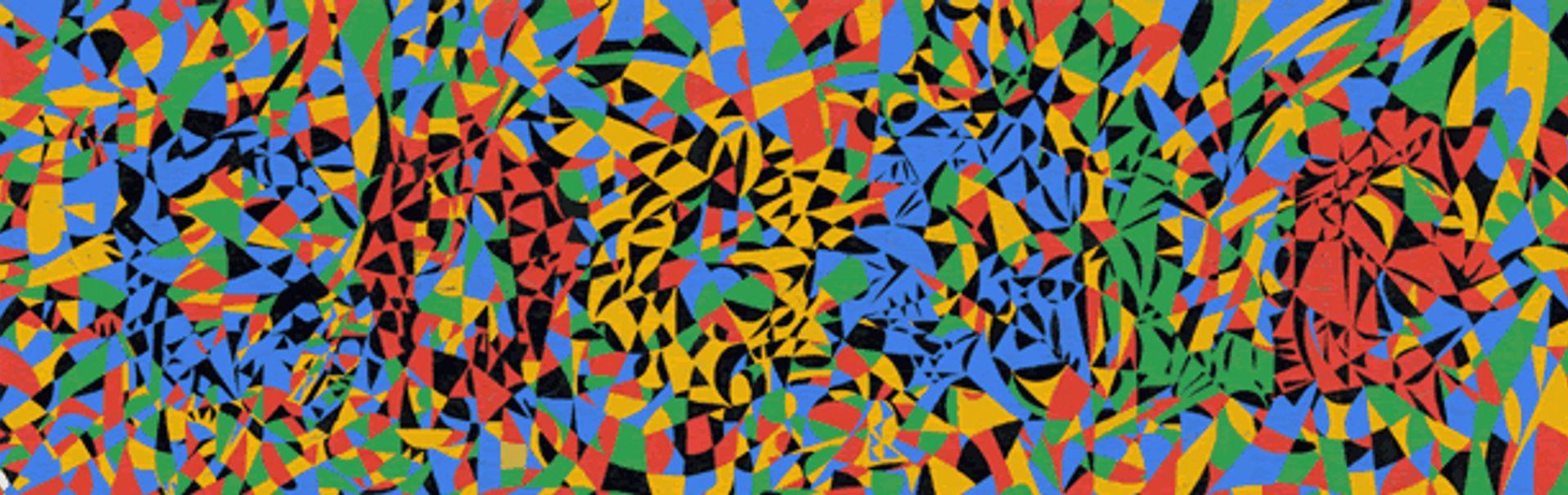 Fahrelnissa Zeid's kaleidoscopic design as seen on Google courtesy Google