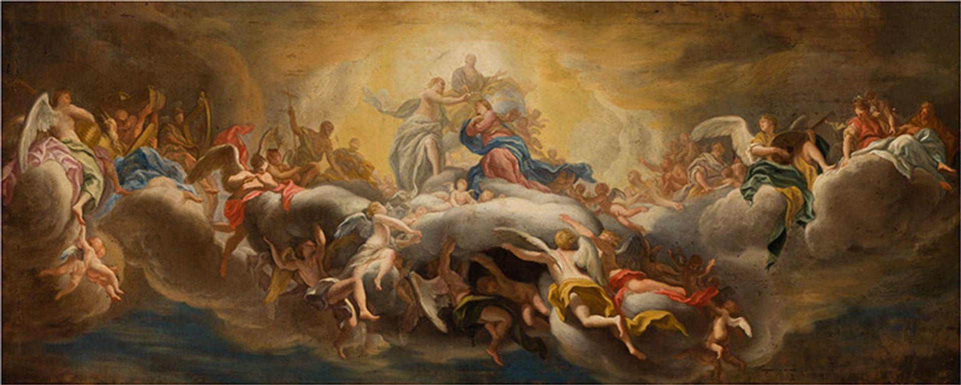 Domenico Piola, The Coronation of the Virgin (around 1695), oil on canvas, Musei di Strada Nuova, Palazzo Bianco, Genoa © Musei di Strada Nuova