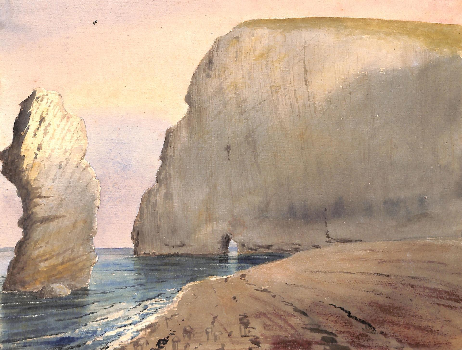 Bat's Hole (undated) by Henry Joseph Moule © Dorset County Museum
