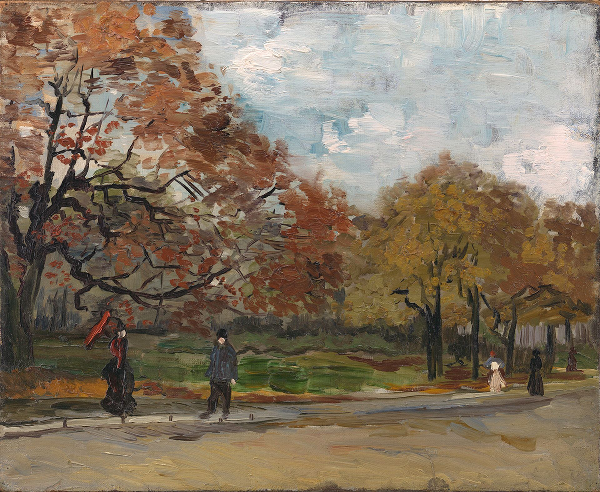 Vincent van Gogh's The Bois de Boulogne with People Walking (1886) Courtesy of Hammer Galleries, New York