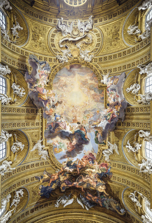 """Dantesque? The Triumph of the Name of Jesus (1661-79) by Giovanni Battista Gaulli (""""Il Baccicio""""), in the nave vault of the Gesù, Rome Photo: Livio Andronico"""