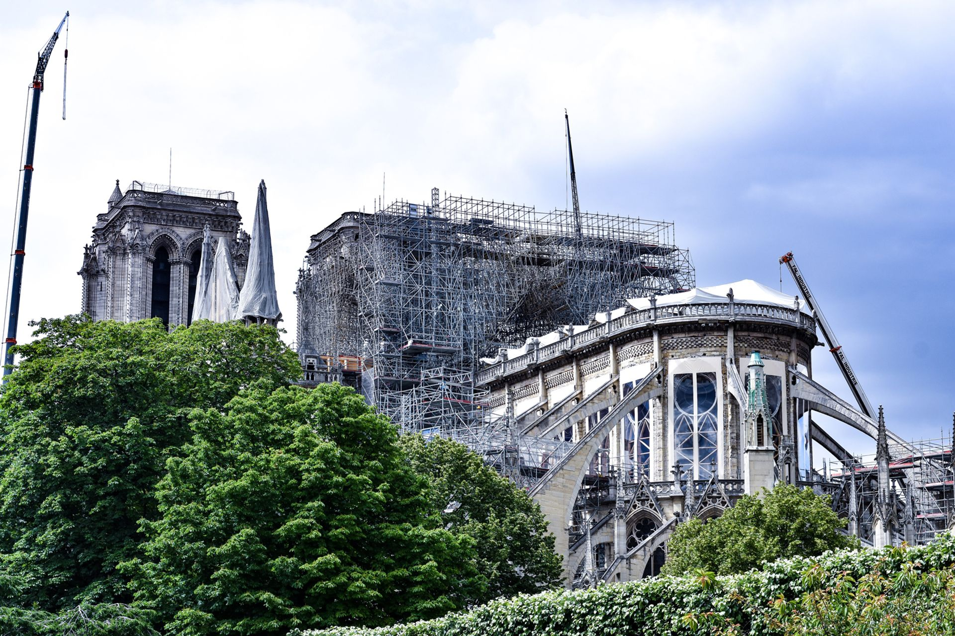 The cathedral of Notre Dame a few weeks after the fire in 2019 © Tayla Bundschuh
