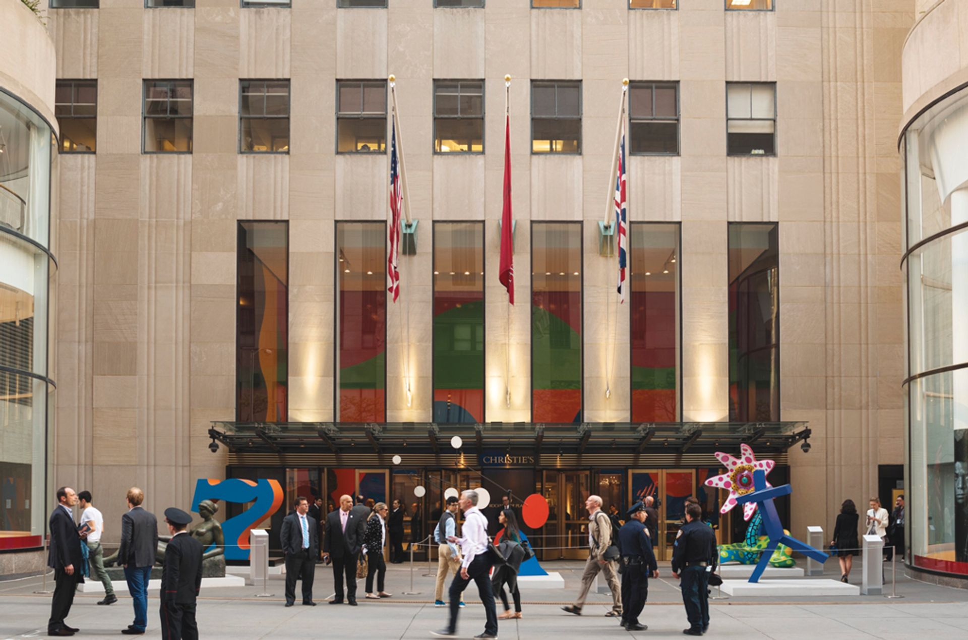 Christie's saleroom in New York's Rockefeller Centre is closed until further notice due to Covid-19 Courtesy of Christie's