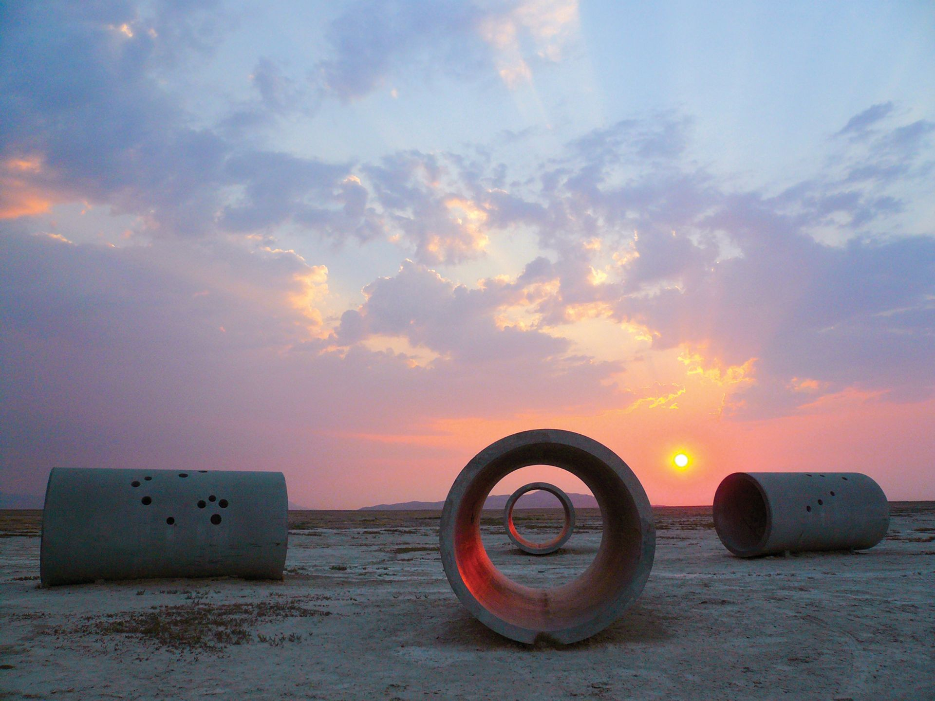 The genesis of Nancy Holt's famous Sun Tunnels (1973–76) in the Utah desert can be seen in the Dia show © Holt-Smithson Foundation and Dia Art Foundation; Licensed by VAGA; Photos: ZCZ Films/James Fox and Nancy Holt