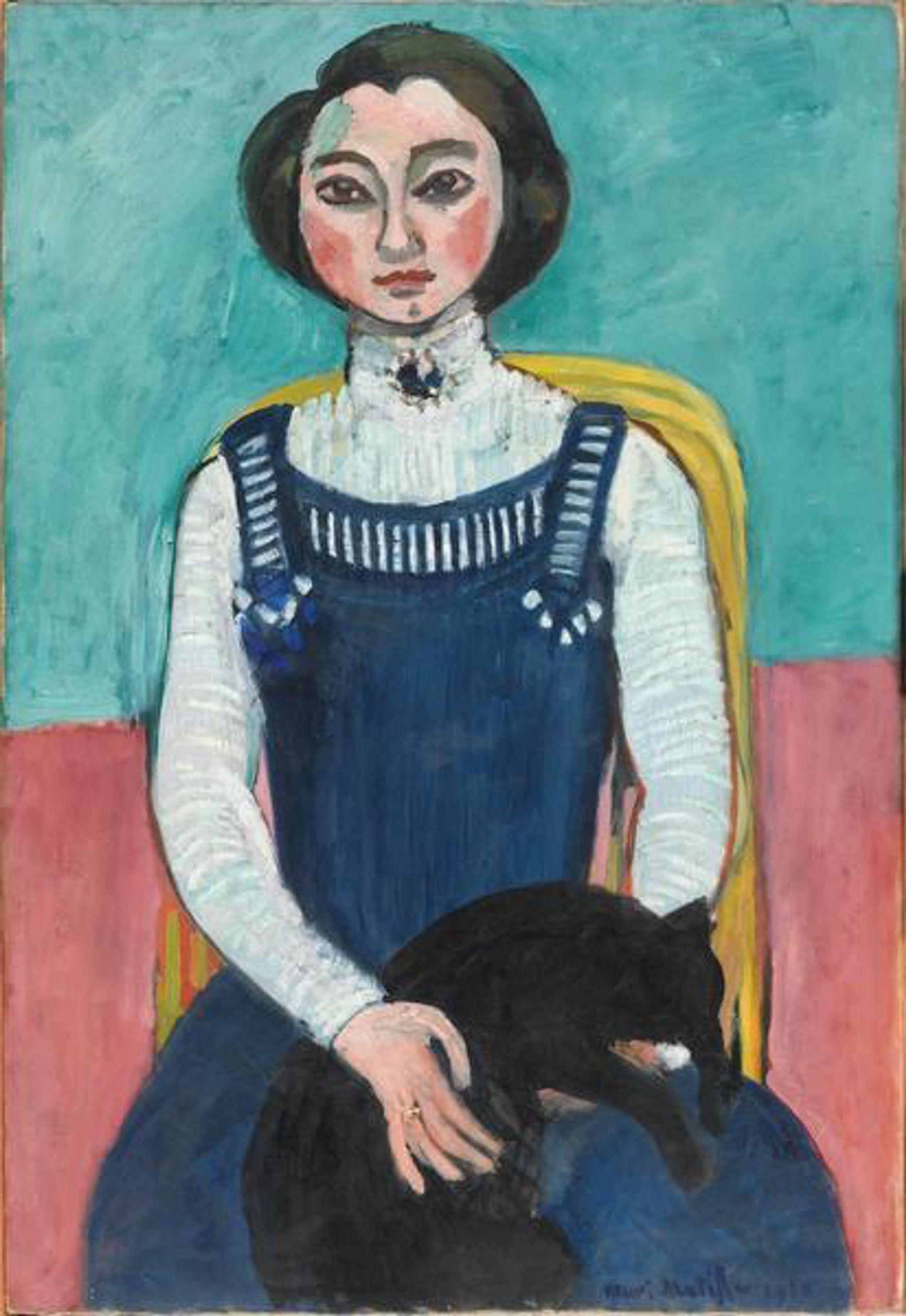 Marguerite au chat noir (1910), Henri Matisse Photo © G. Meguerditchian - Centre Pompidou, Mnam-Cci/Dist. RMN-GP