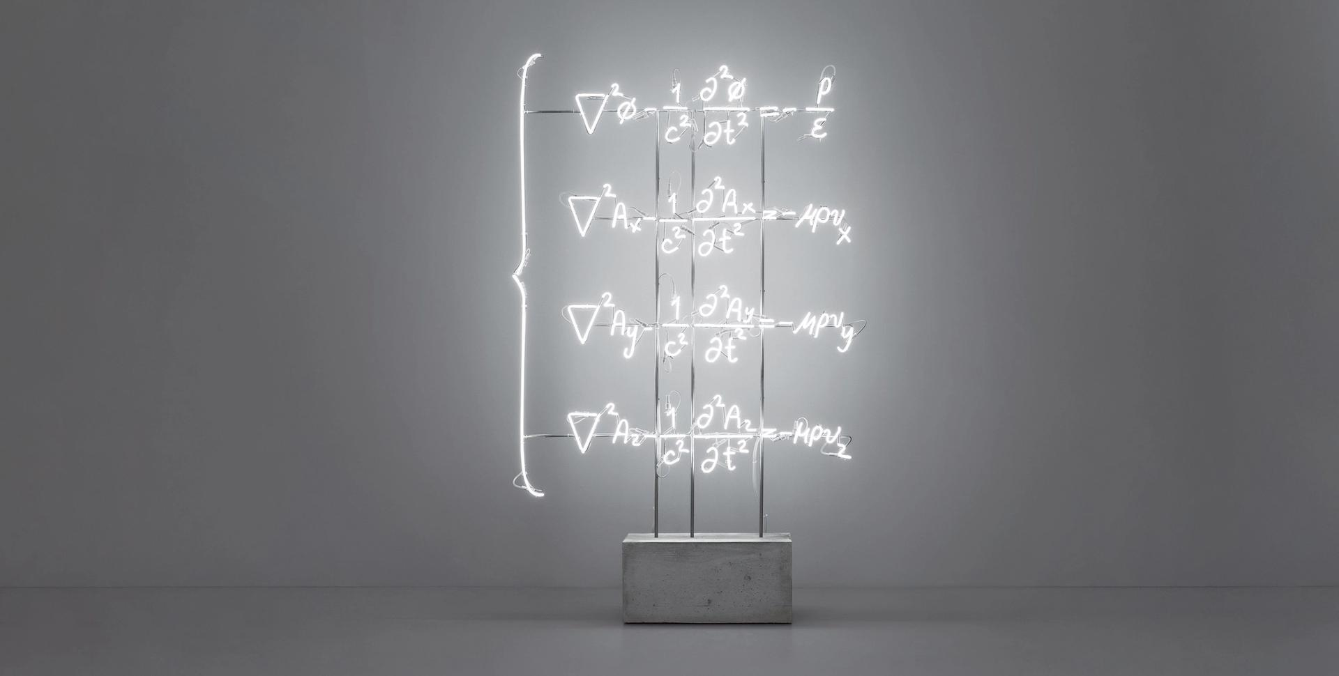 Andrea Galvani's The Totality of Electromagnetic Phenomena (Maxwell's Equations) (2019) shown by Galería Curro in the Armory's Focus section Courtesy of the artist and Galería Curro