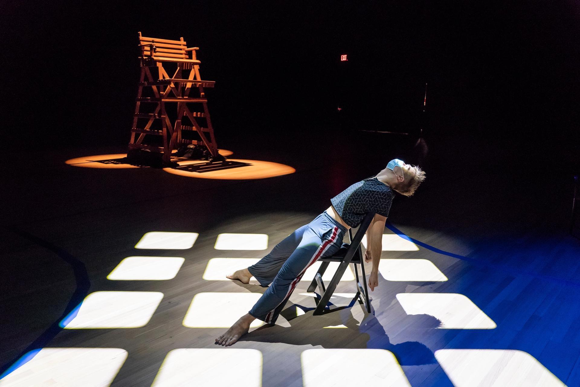 A rehearsal of Bill T. Jones, Afterwardsness (2020), at the Park Avenue Armory Photo: Stephanie Berger